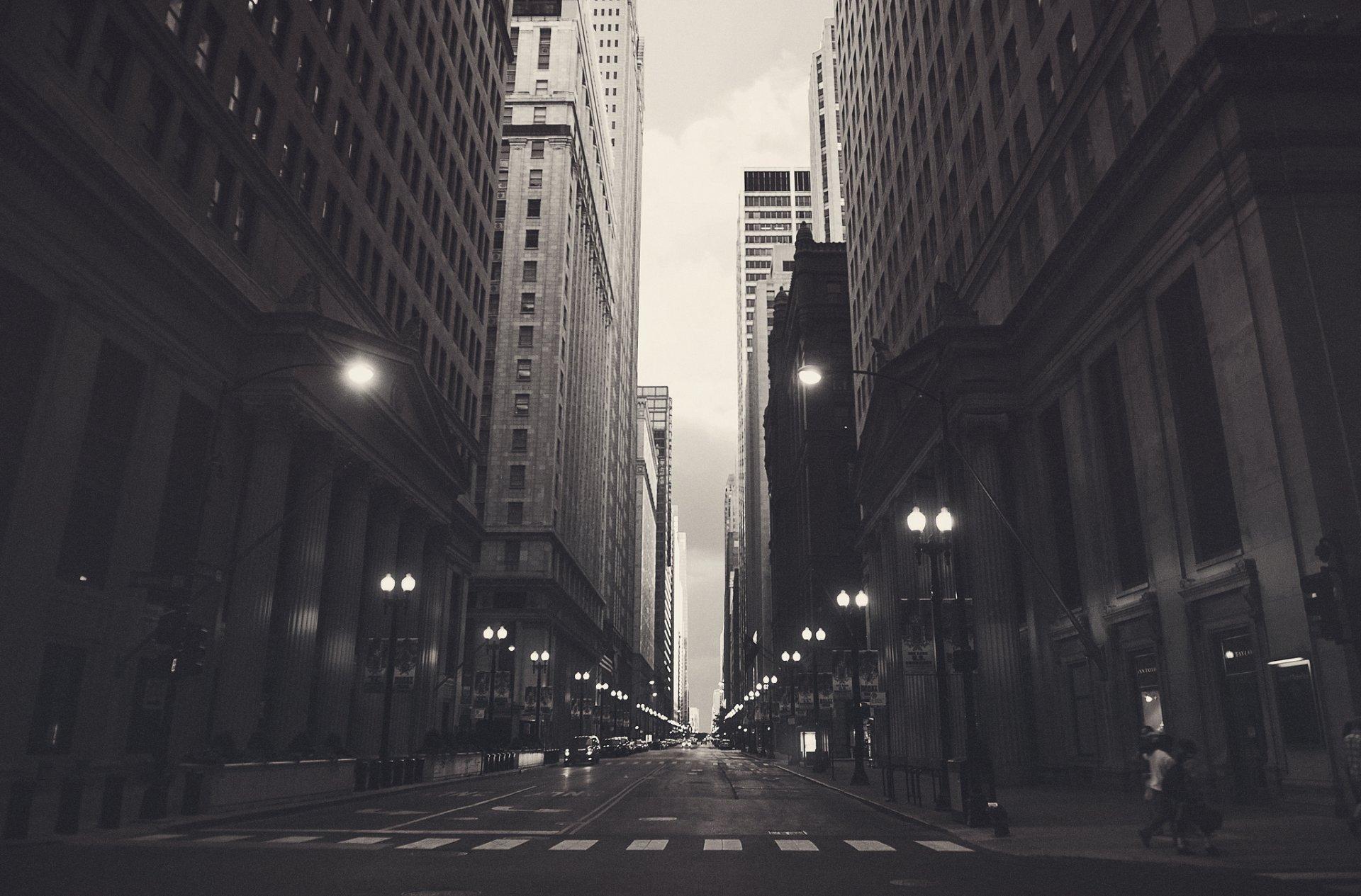 Обои фонари, ночь, люди, сша. Города foto 19