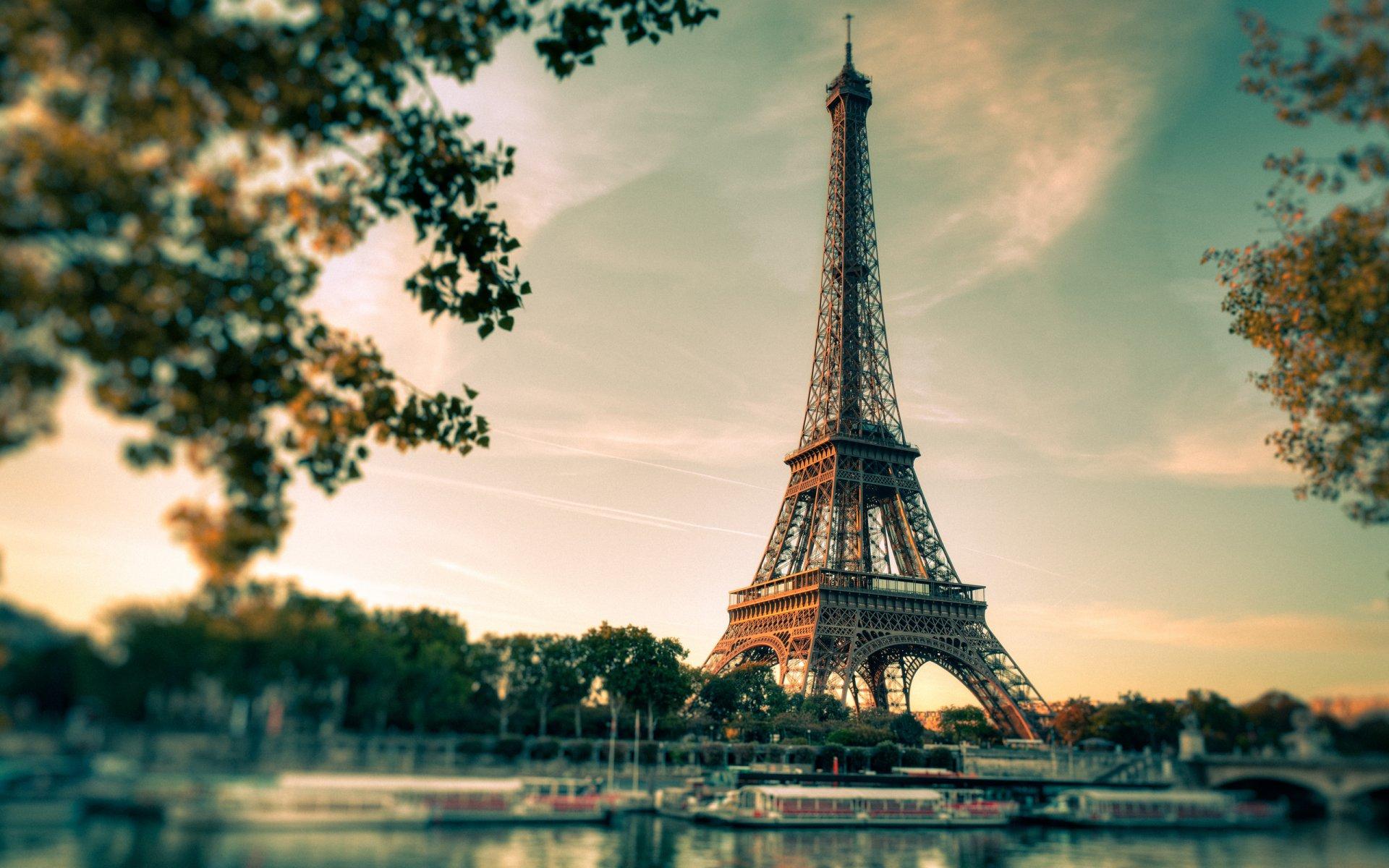 Обои Эйфелева башня, рисунок. Города foto 13