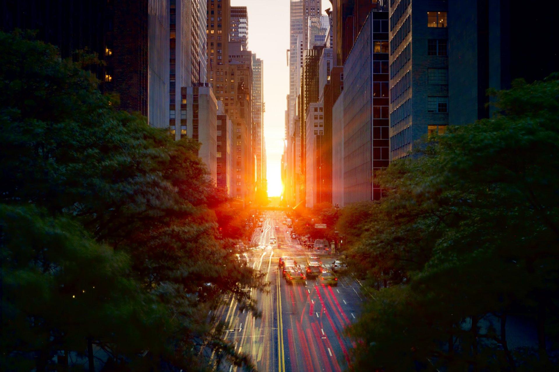 материал город рассвет фото обои на телефон нет