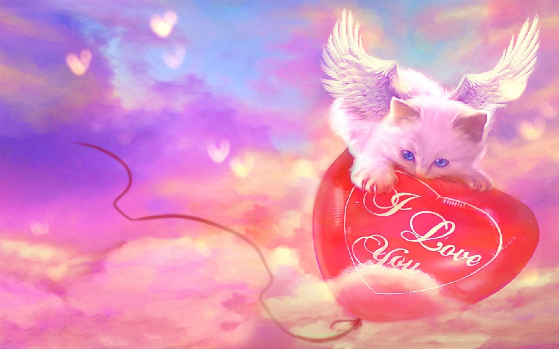 Картинки с сердечками и надписями и ангелами