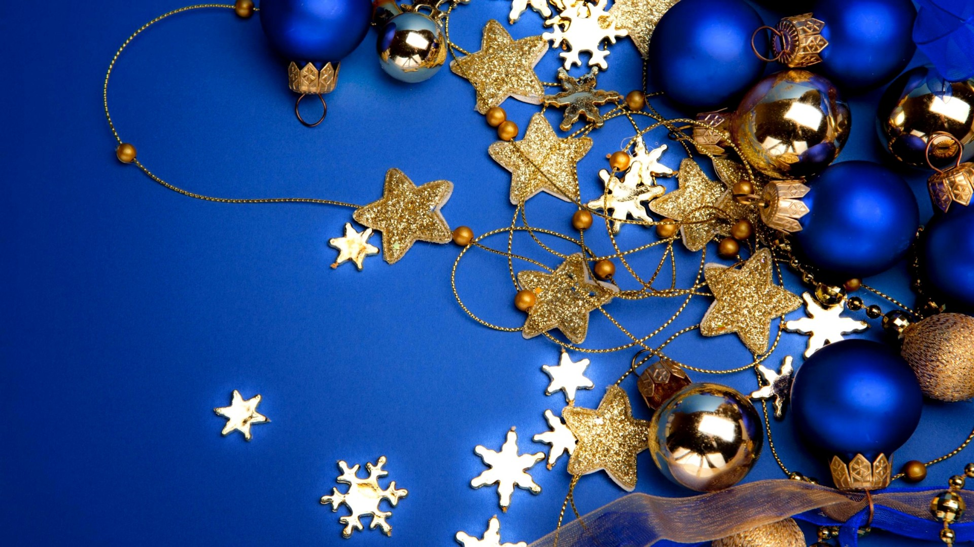 Открытка с новым годом синяя, для рисования