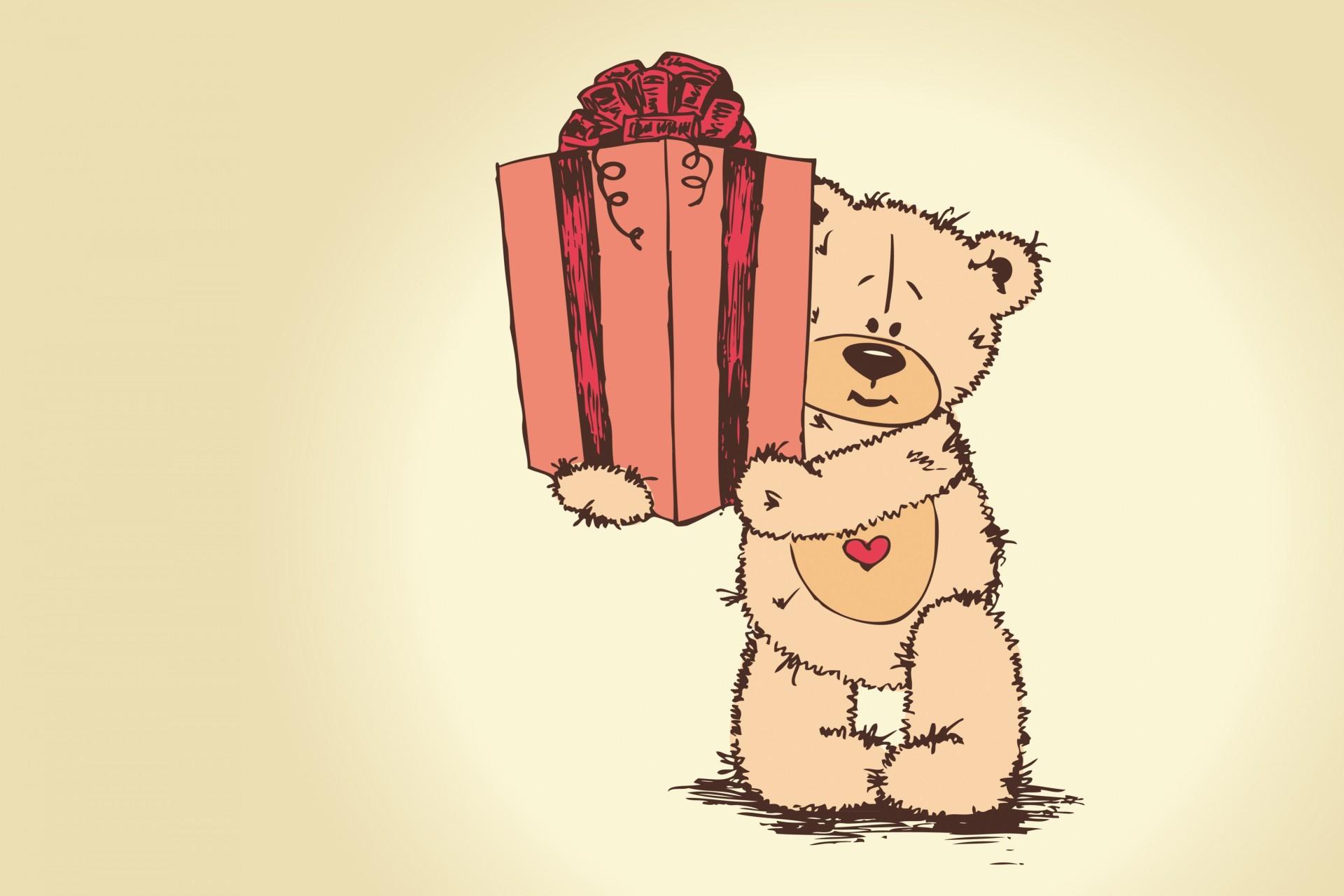 Смешные, открытки с медведями к дню рождения