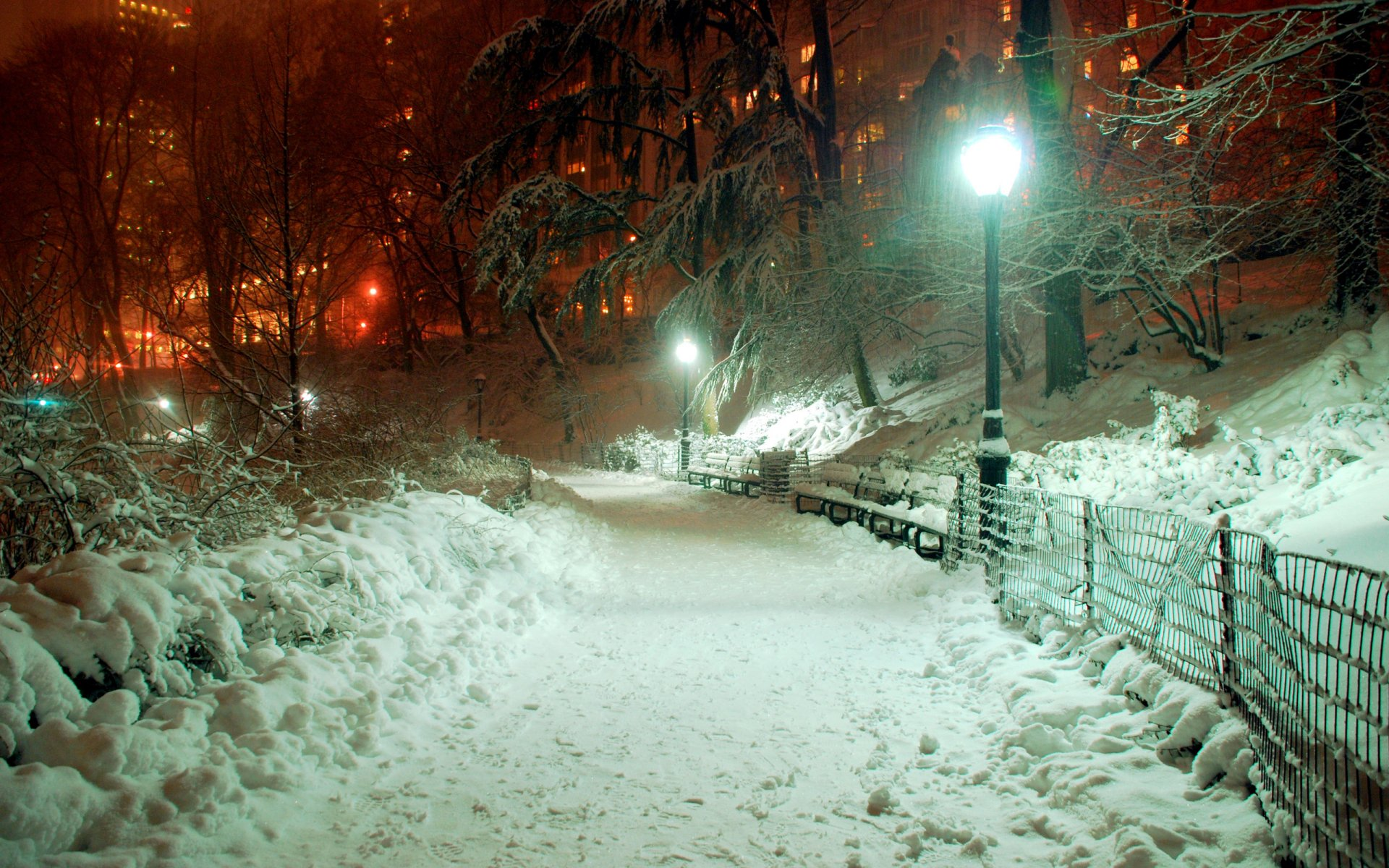 Обои тротуар, здания, свет. Города foto 13