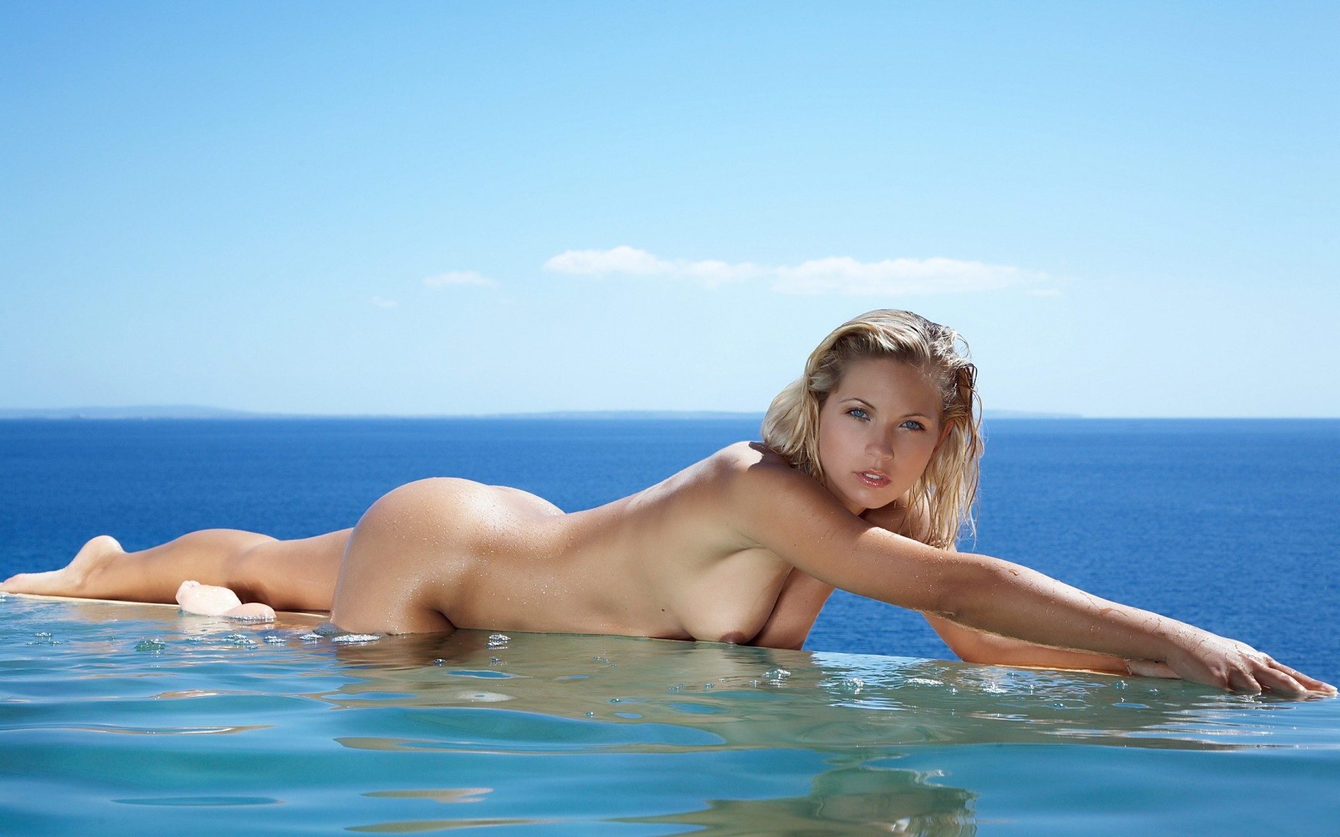 Nude blondes in water 6