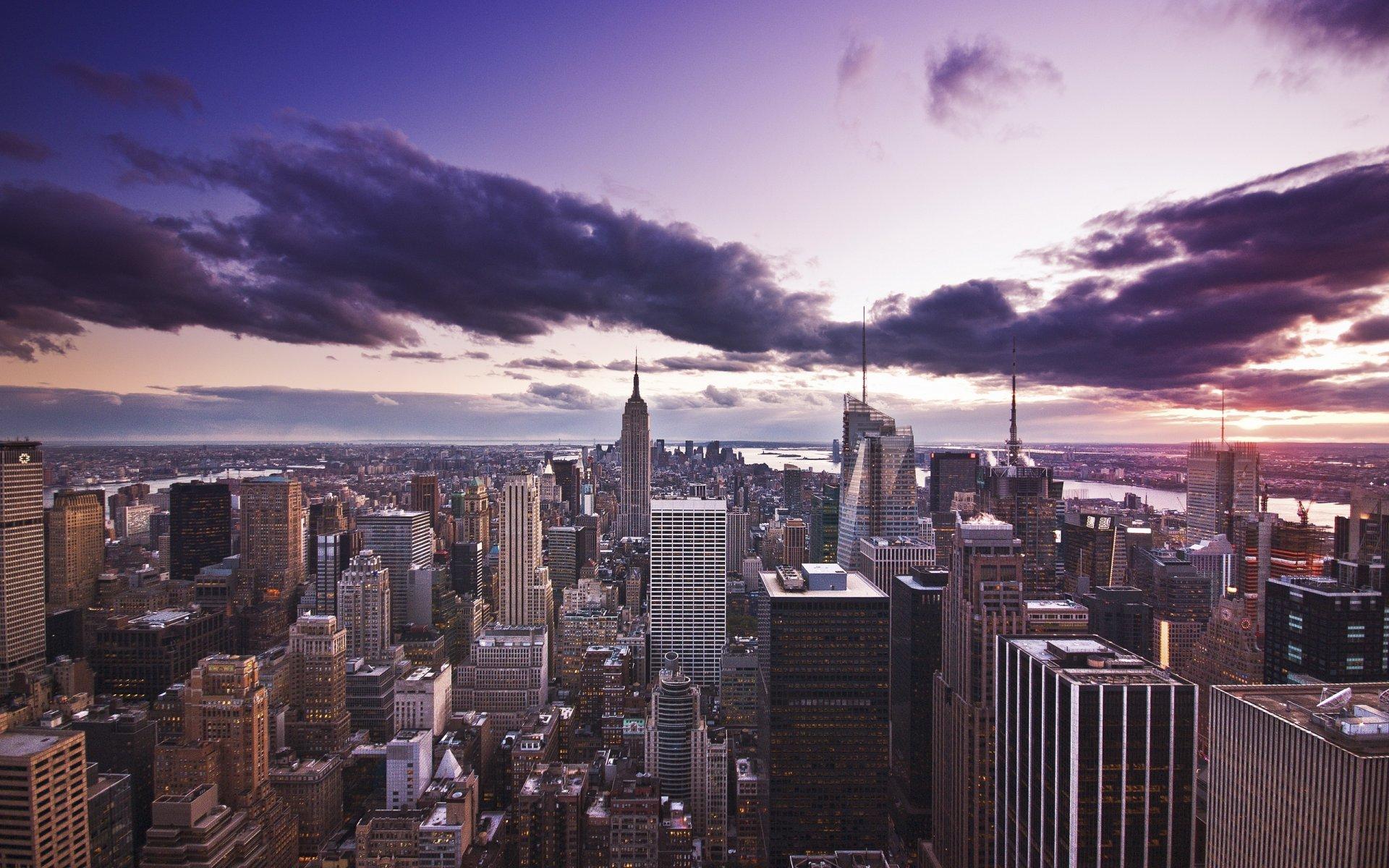 Обои Облака, здания, набережная, красота. Города foto 10
