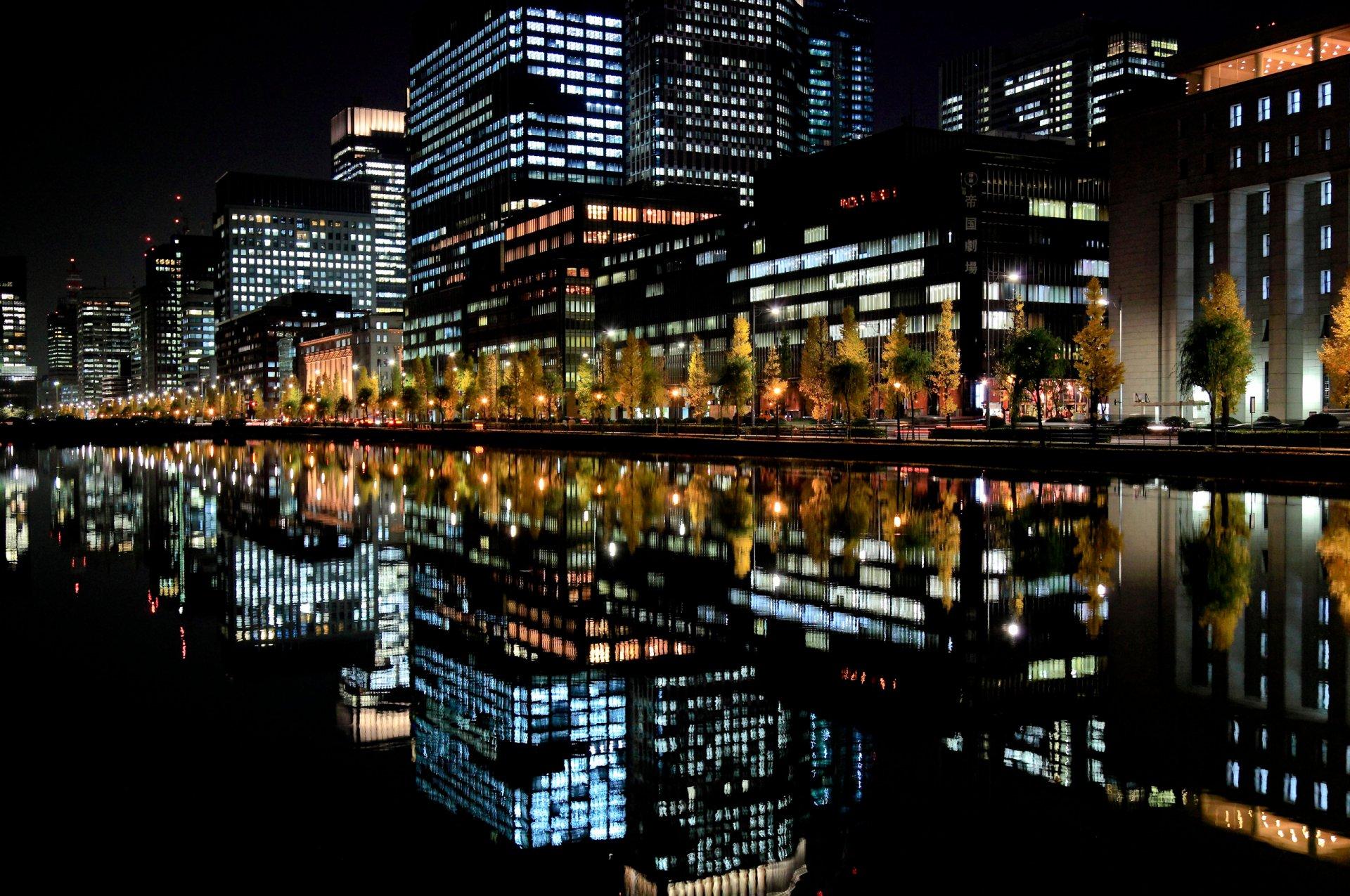 картинки для телефона ночной город доказал