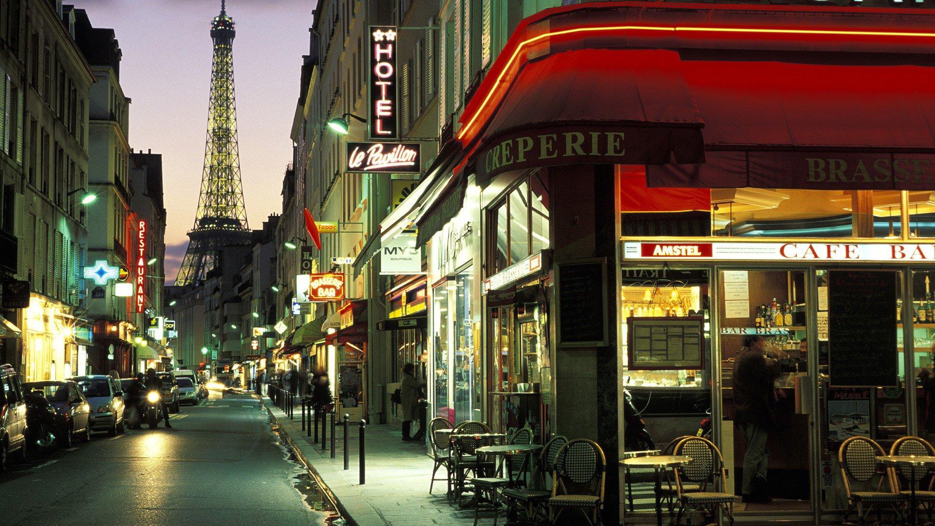 Обои здания, улица, красота, фонари, дома. Города foto 13