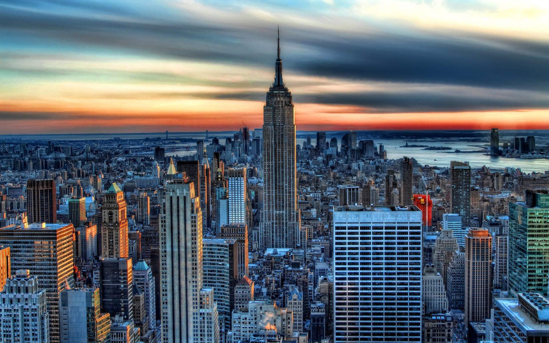 Обои state new york, небоскребы, утро, америка. Города foto 17