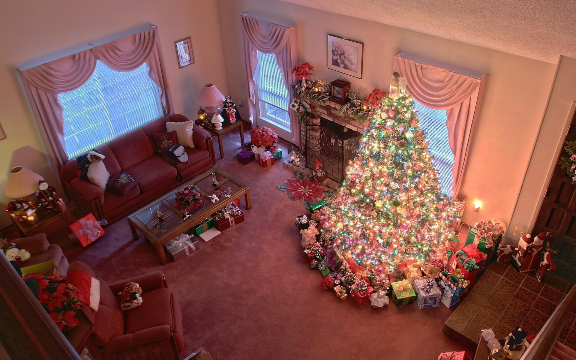 Красиво оформляем комнату на новый год