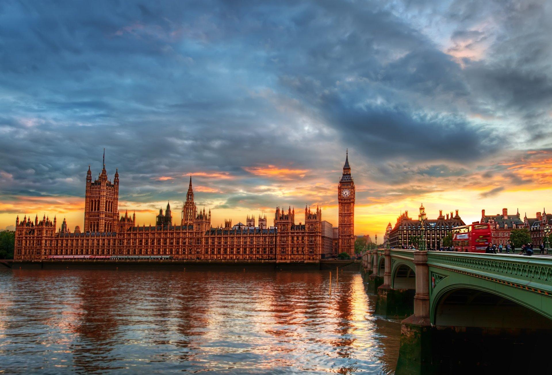 Обои парламент, темза, башня. Города foto 10