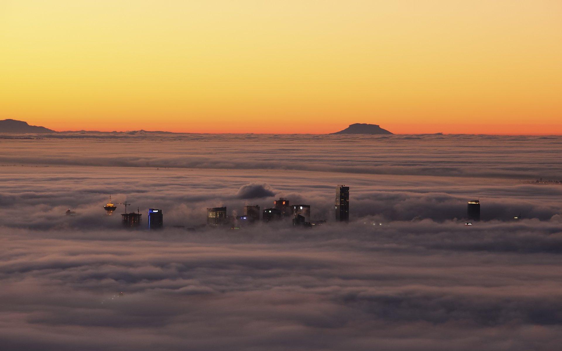 туман город обои для рабочего стола № 648867 бесплатно