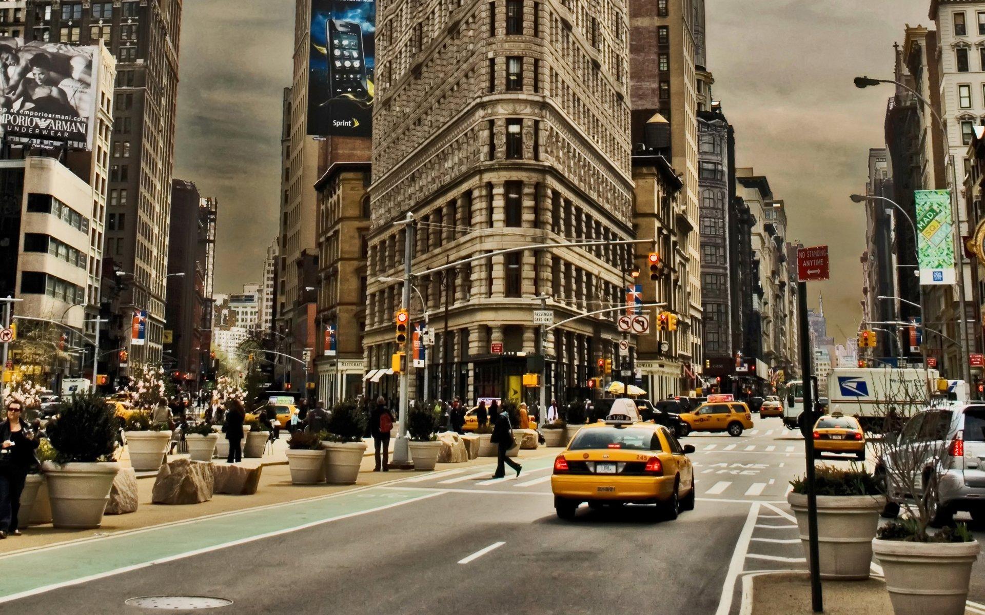 Обои cars, улица, дома, ночь, машины, свет. Города foto 15