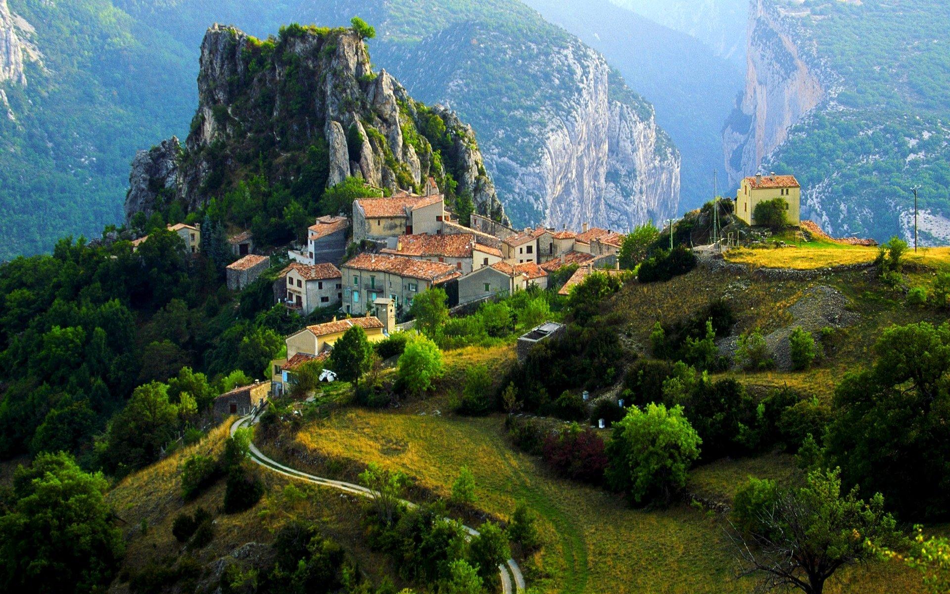 Обои france, Пейзаж, здания, городок, дома. Города foto 7