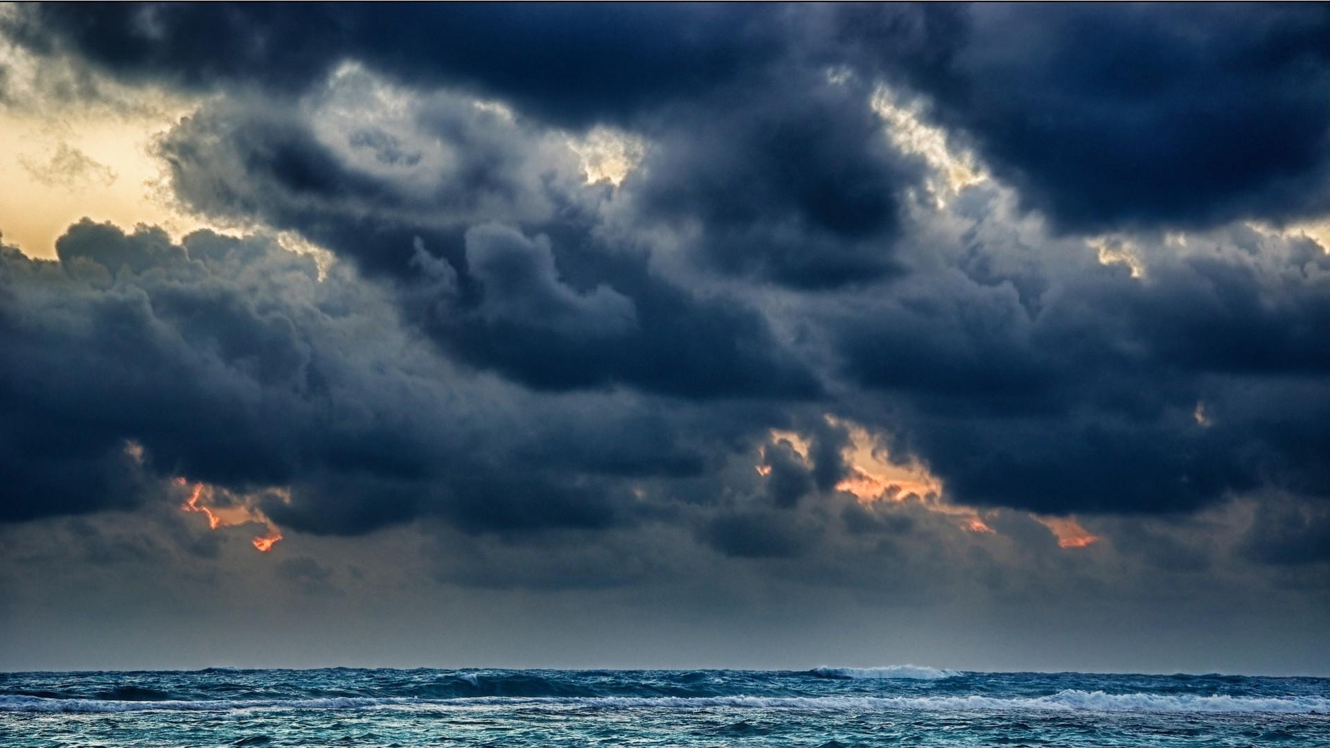 Море вода деревья облака  № 1035015 загрузить