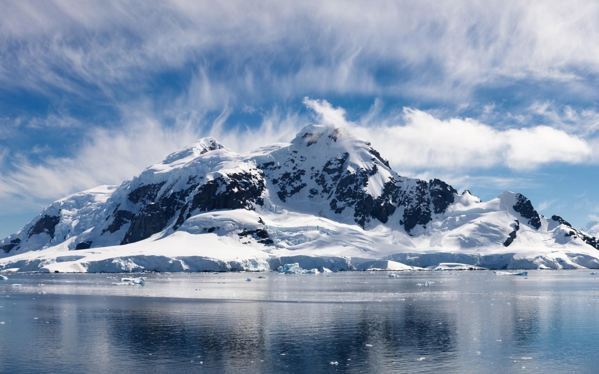 картинка снежные горы россии также может