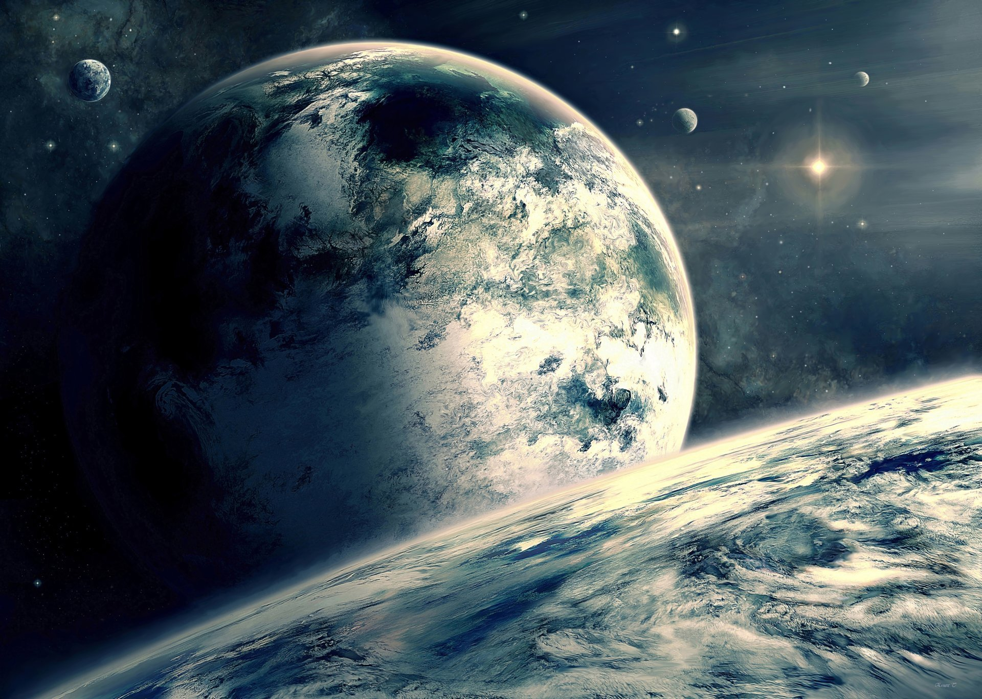 задуматься, больше картинка для фотообоев космос фото еще