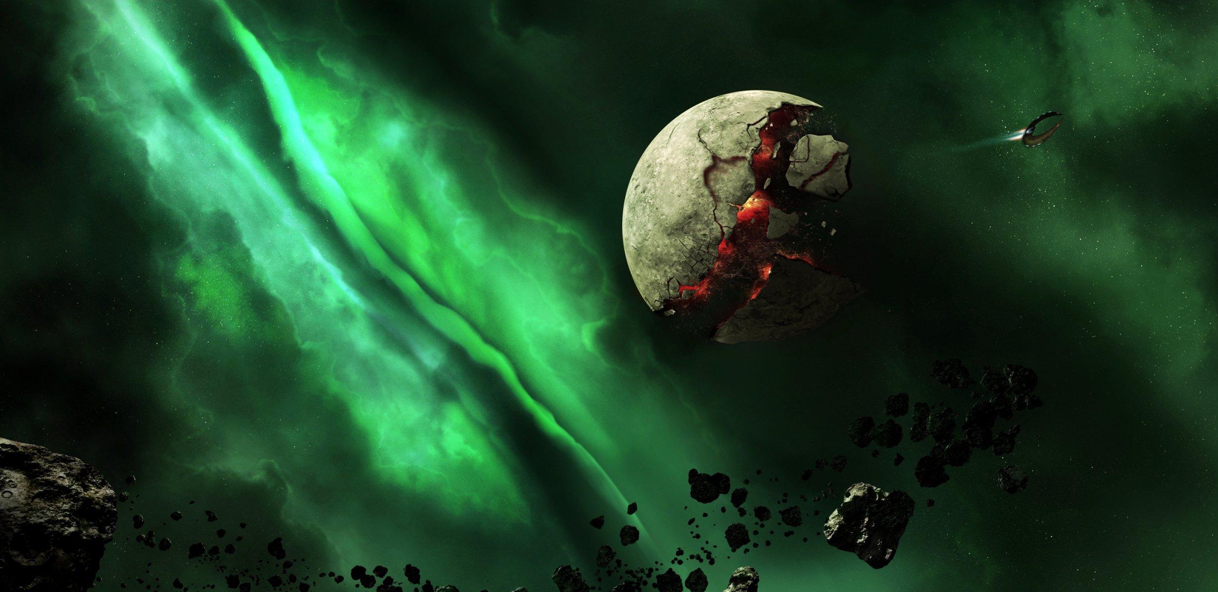 Обои Взрывы на планетах картинки на рабочий стол на тему Космос - скачать загрузить