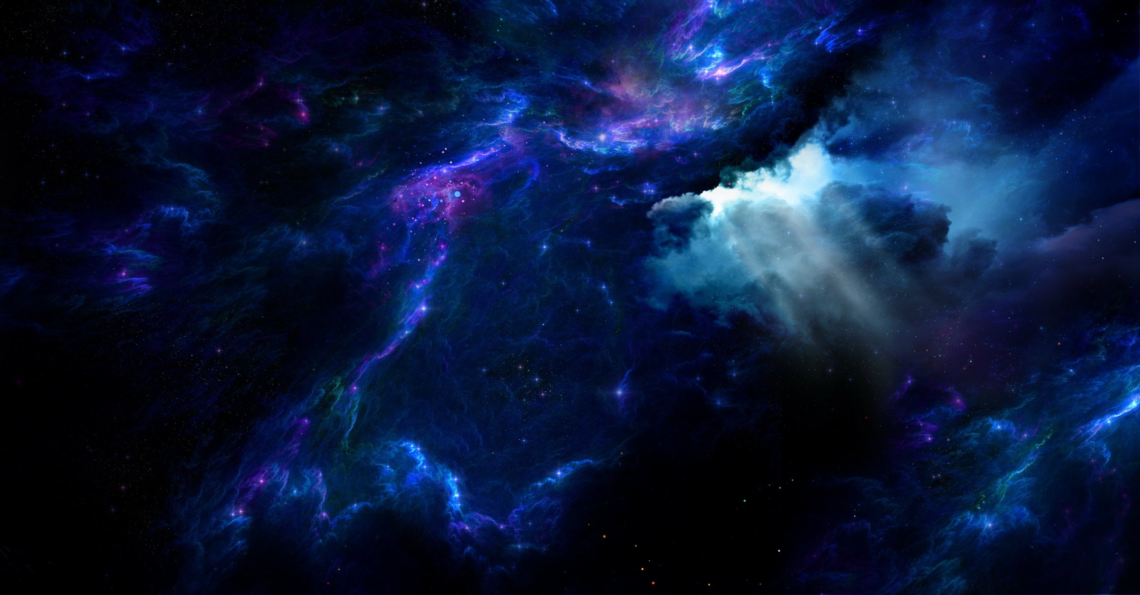 Обои Бездна, пустота, планеты, туманность. Космос foto 7
