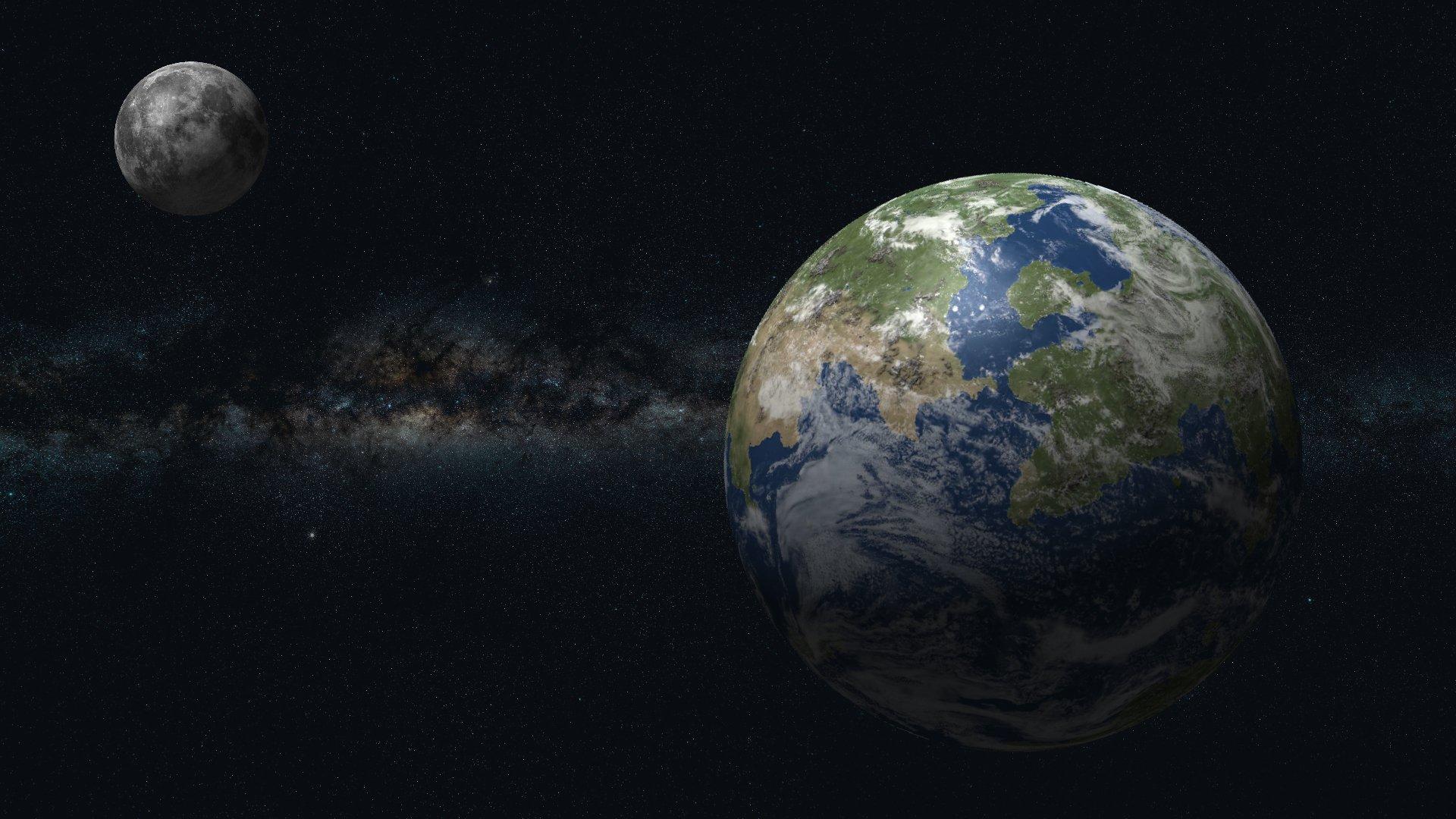 Картинки земля и луны