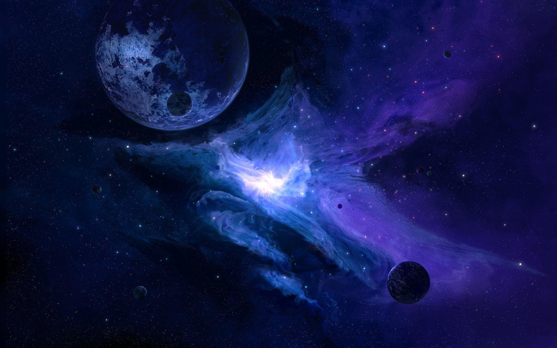 Обои Бездна, пустота, планеты, туманность. Космос foto 15