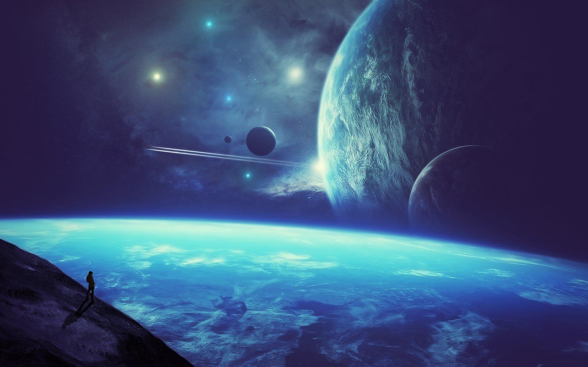 Обои Планеты синие картинки на рабочий стол на тему Космос - скачать  № 1765878 загрузить