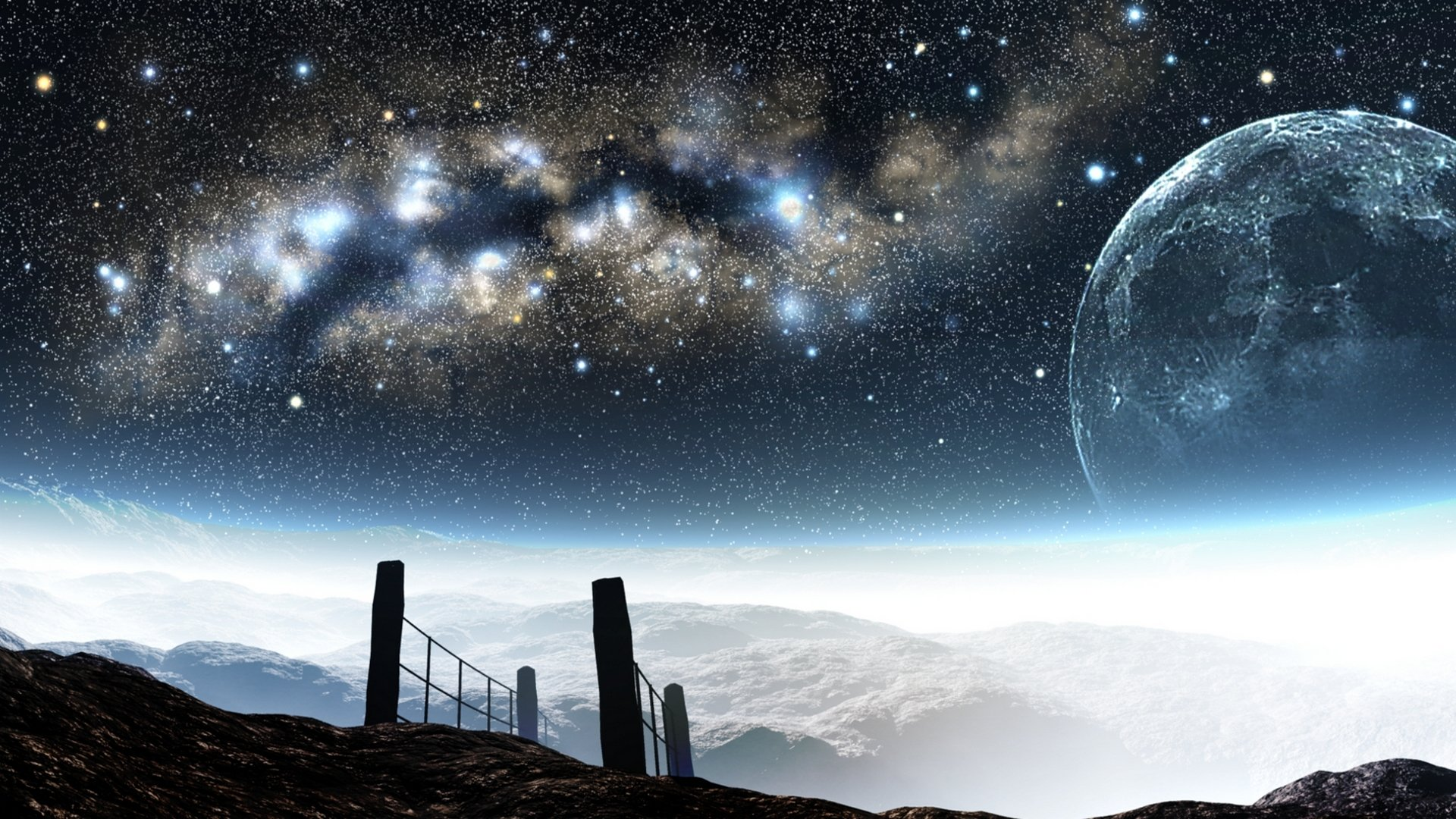 горы высота небо звезды загрузить