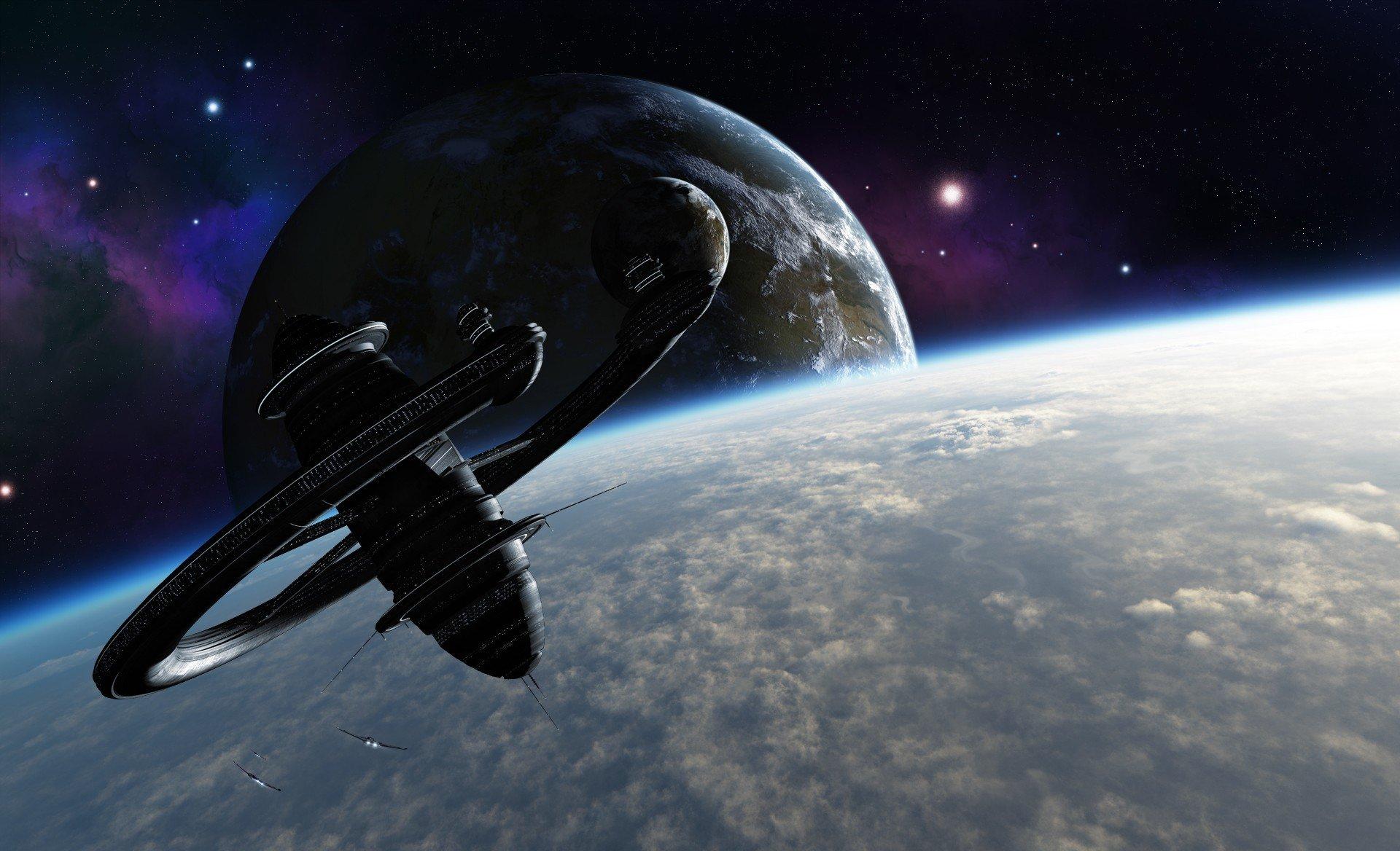 Обои космос земля спутник картинки на рабочий стол на тему Космос - скачать  № 1758033  скачать