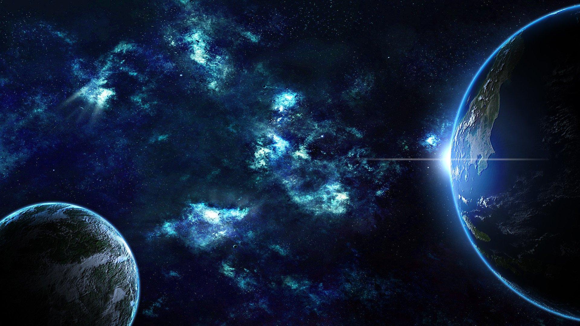 Обои Восход на орбите картинки на рабочий стол на тему Космос - скачать загрузить