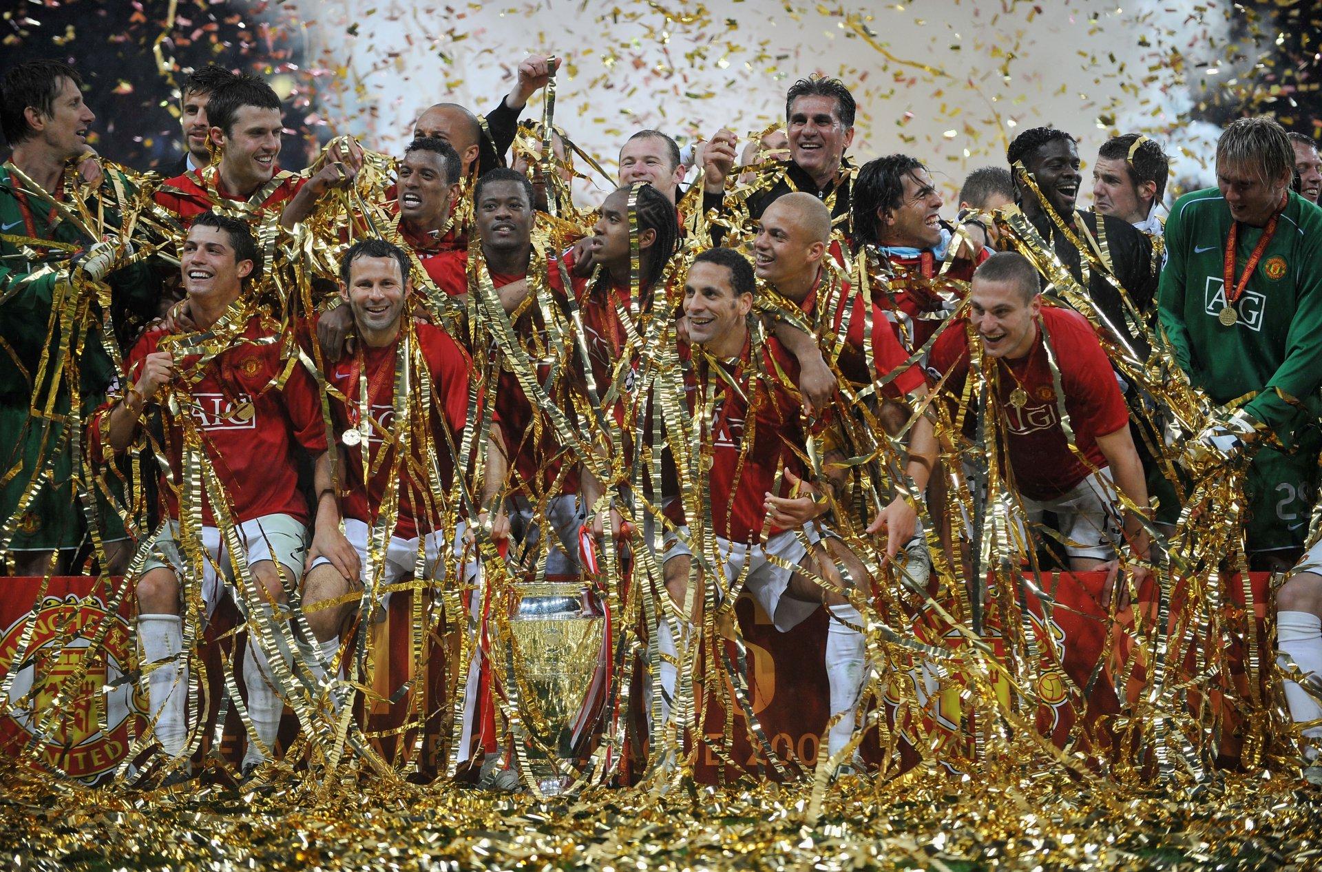 Награждение манчестер юнайтед лига чемпионов