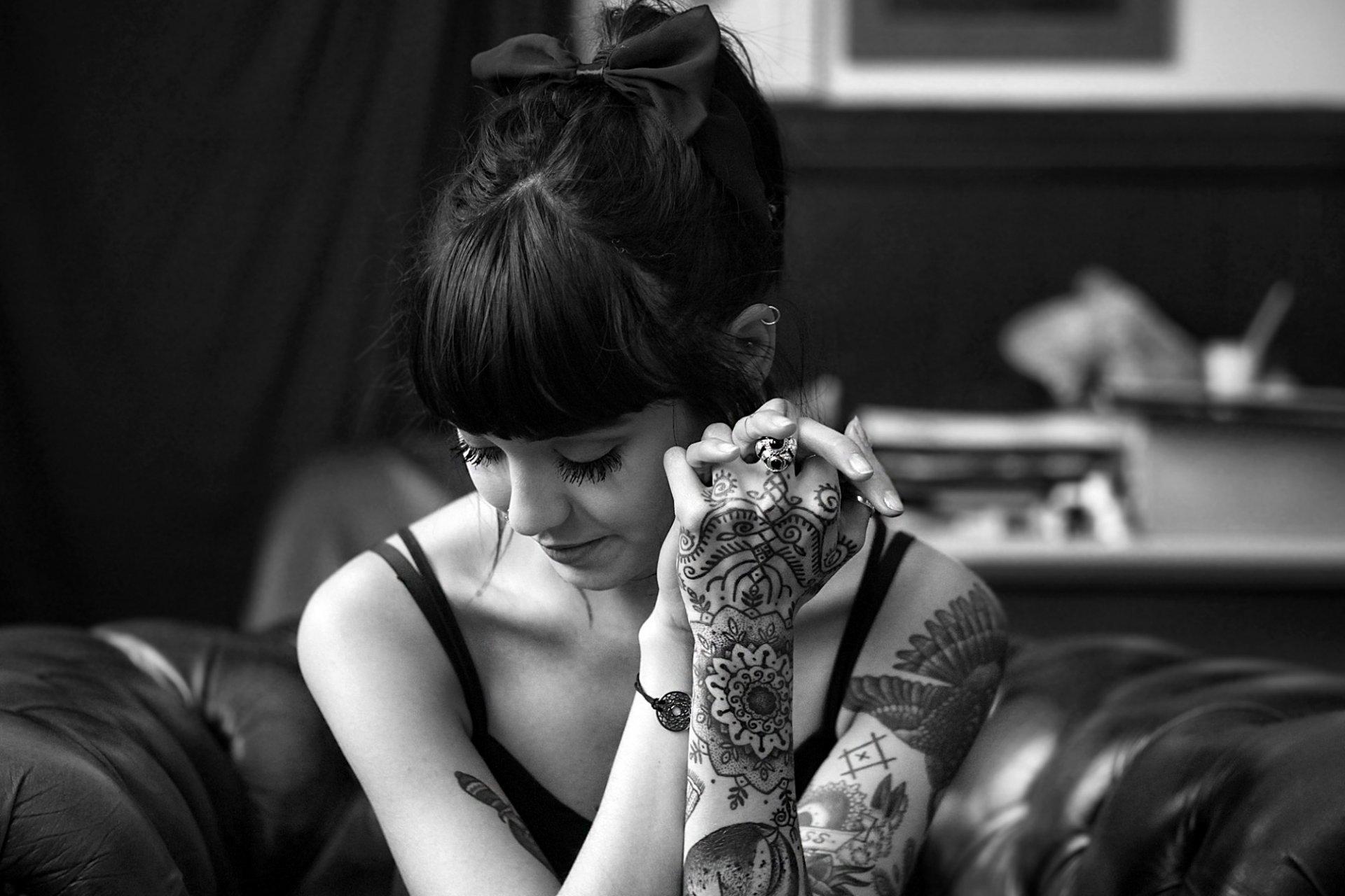 Очень классное тату фото черно белые