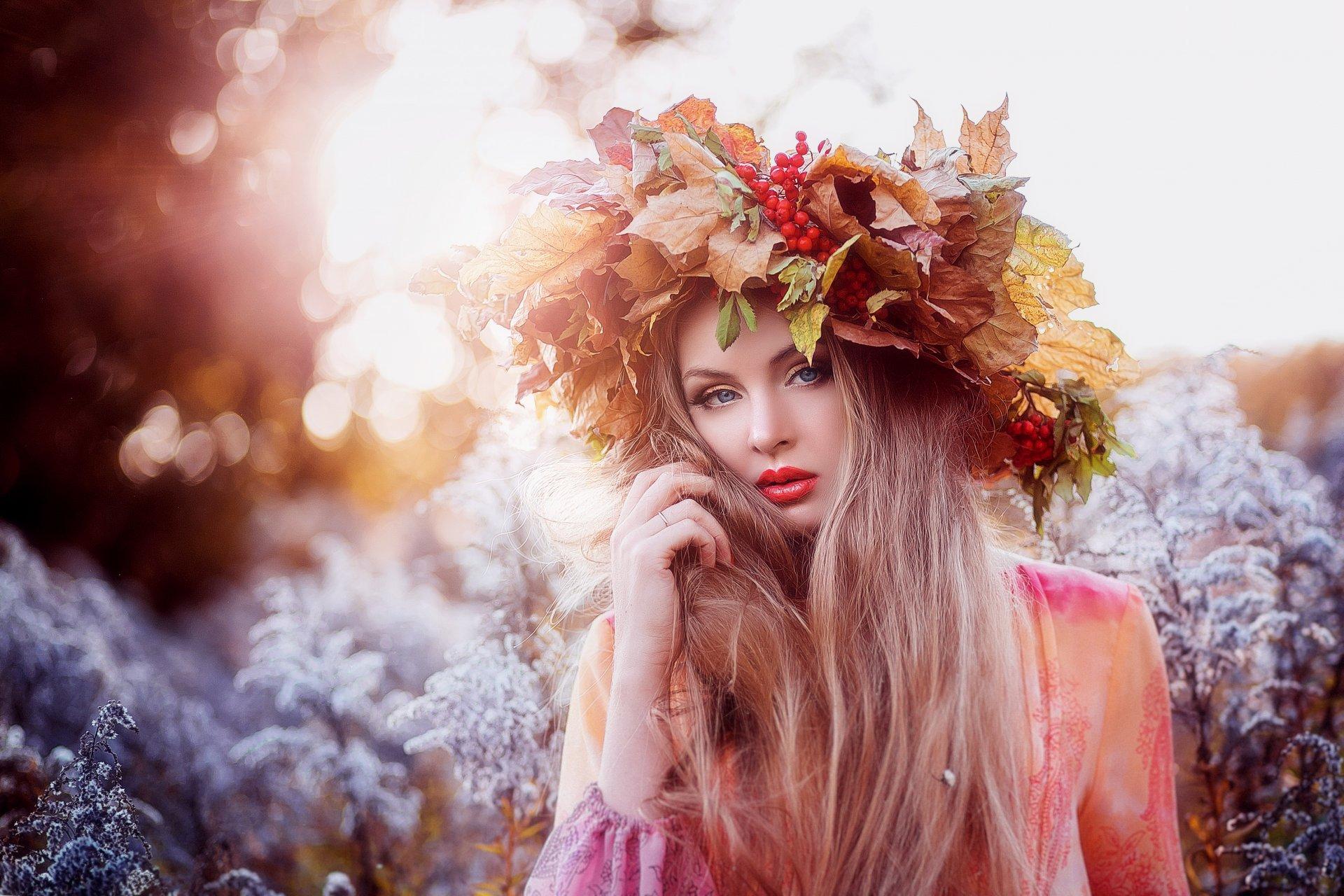 Надписью, женщина и осень картинки красивые