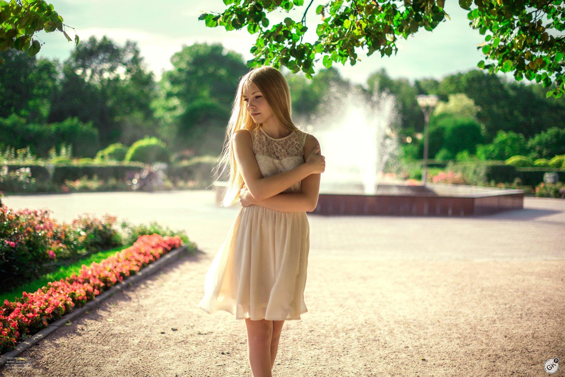 Фотосессия в парке летом девушки фото