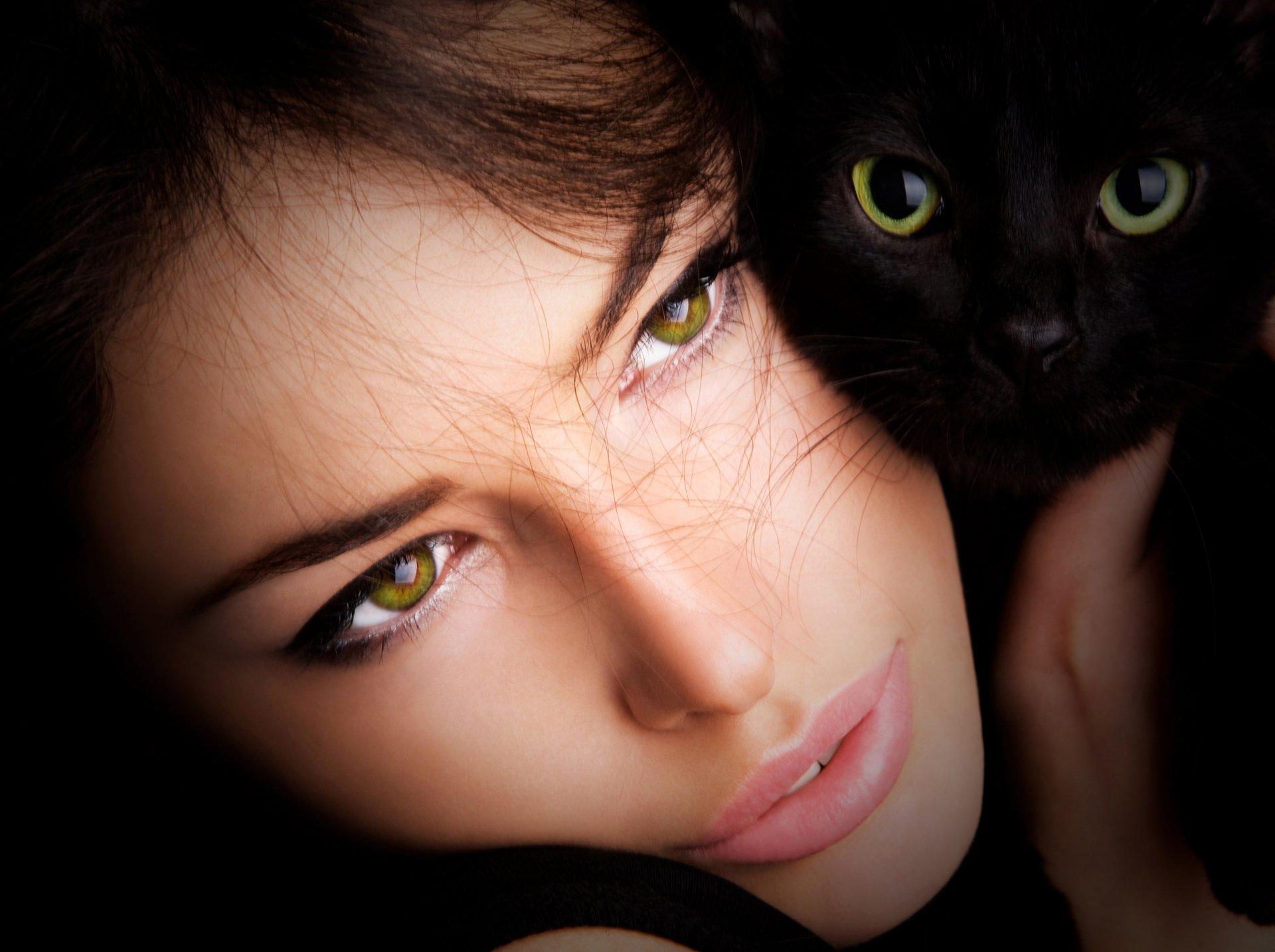 Кошачьи глаза у девушек фото
