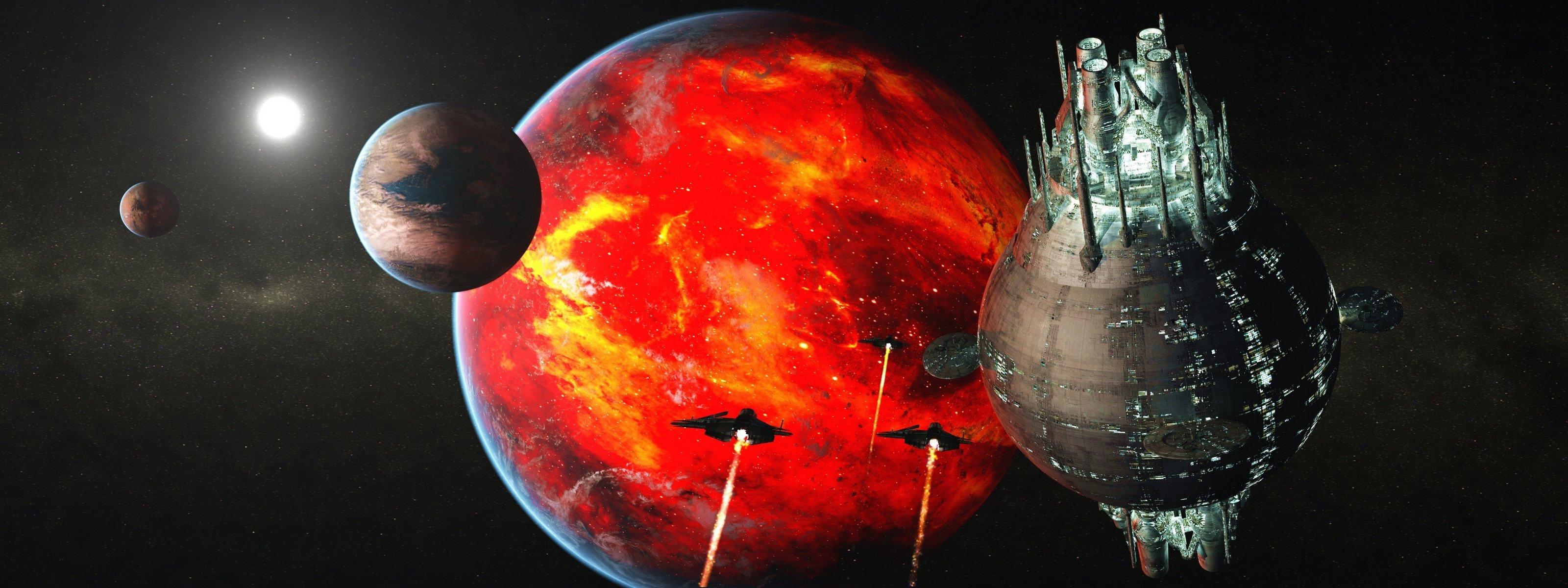 Обои огненная планета картинки на рабочий стол на тему Космос - скачать  № 433866  скачать