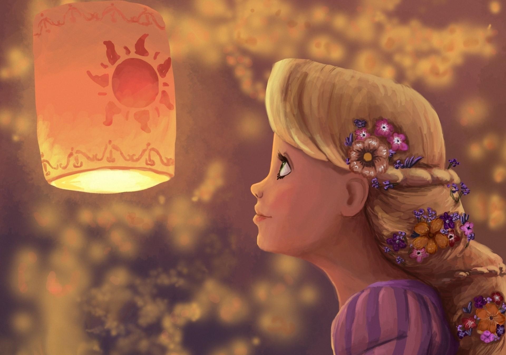 Принцесса под небесными фонариками  № 2222739 бесплатно
