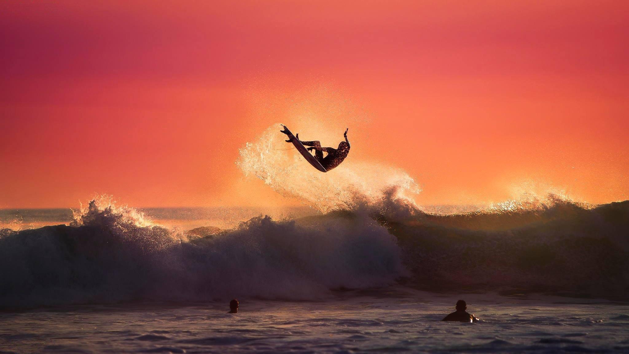 серфинг закат волны бесплатно