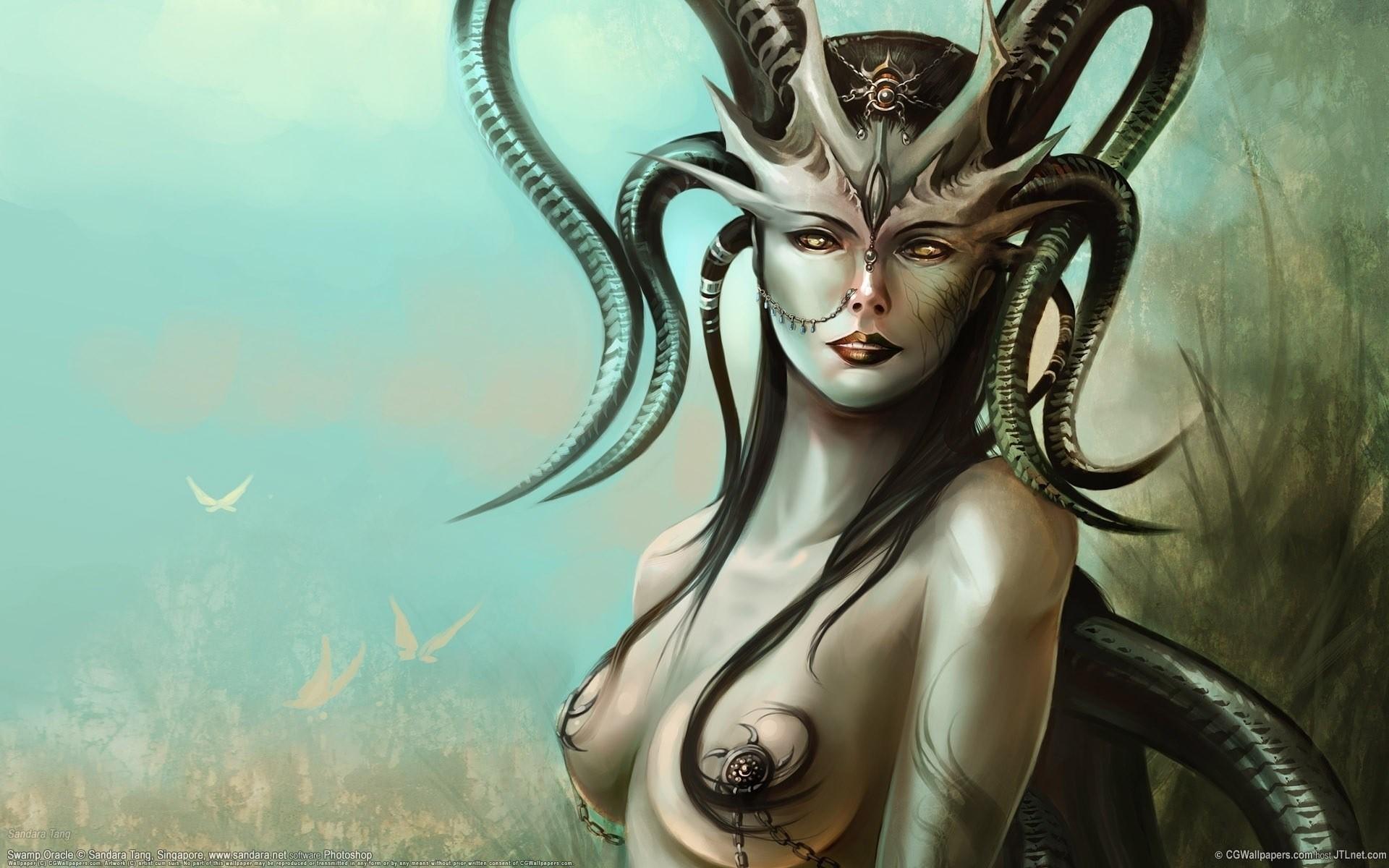 Female nude fantasy movie hentai clip