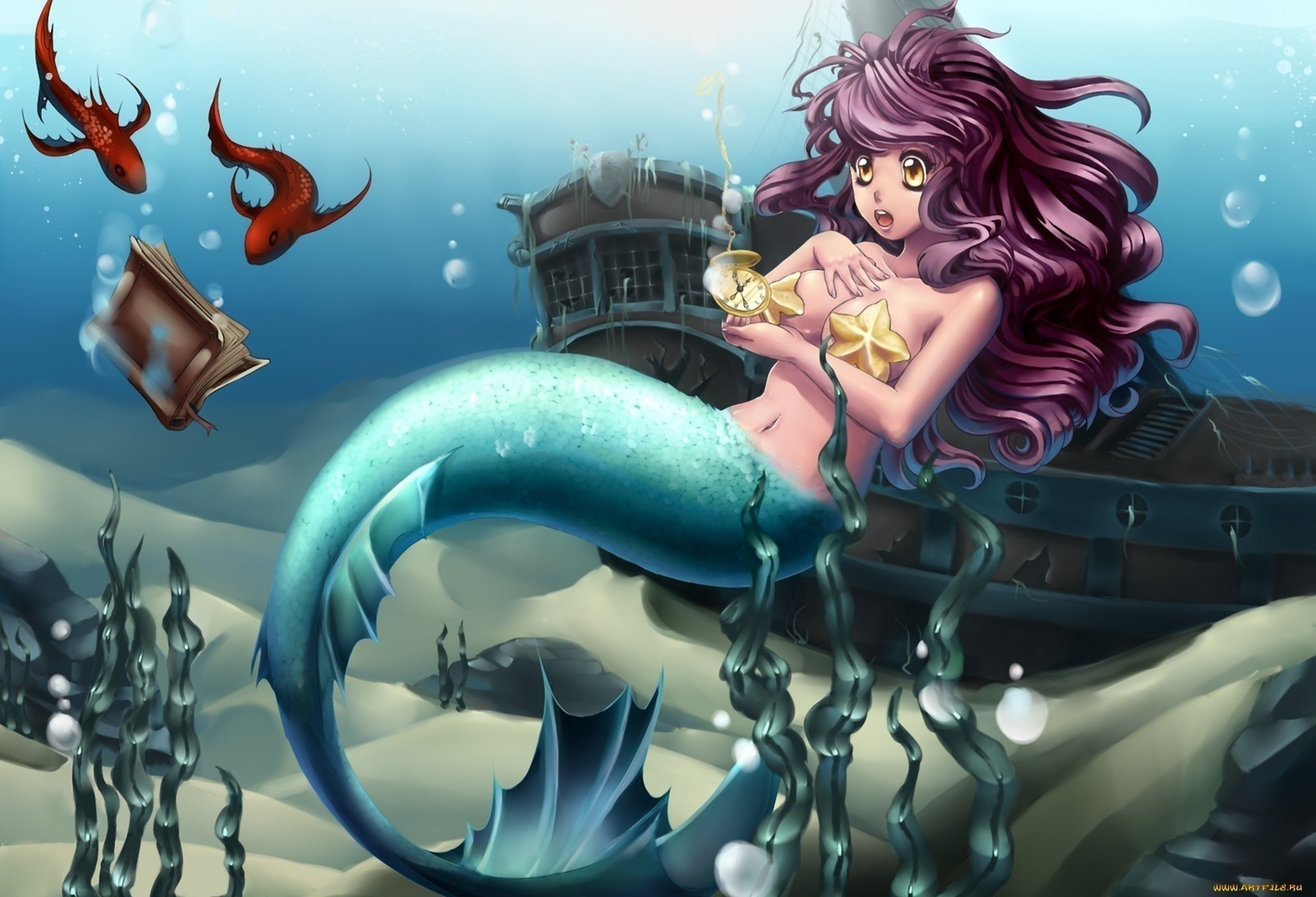 фэнтези русалка графика рисунок fantasy mermaid graphics figure без смс