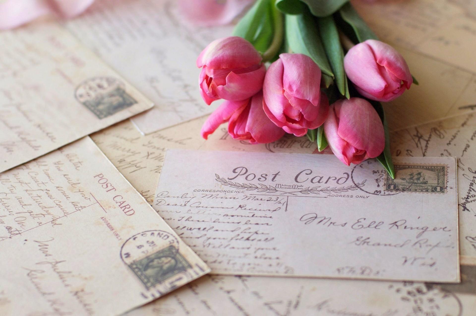 Днем, открытка письмо фото