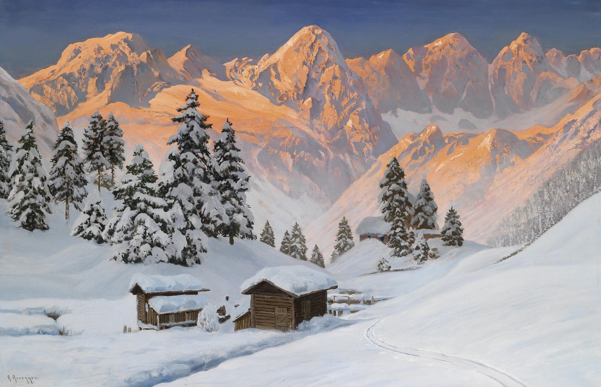 Обои альпы, Пейзаж. Минимализм foto 14