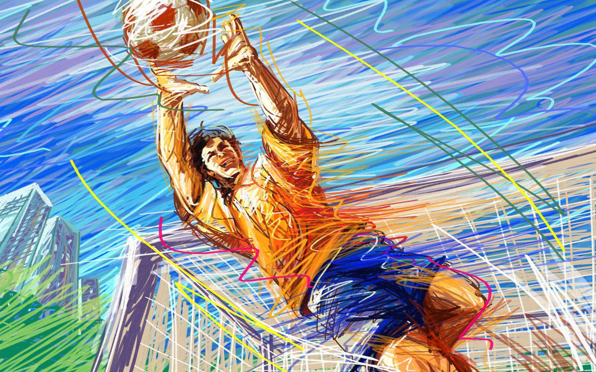постер на тему спорта завернул спираль