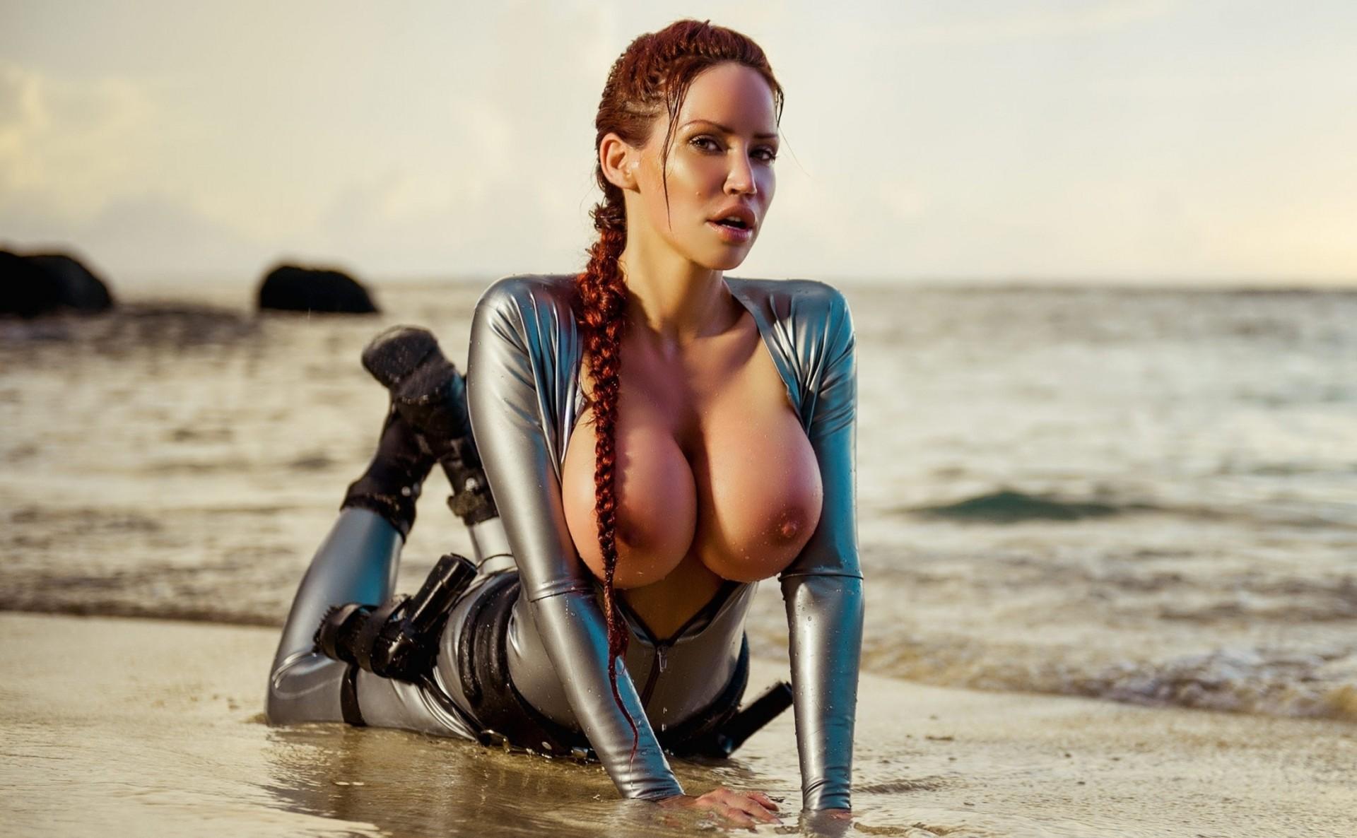 Гигантская грудь синие чулки, красивые и большие груди