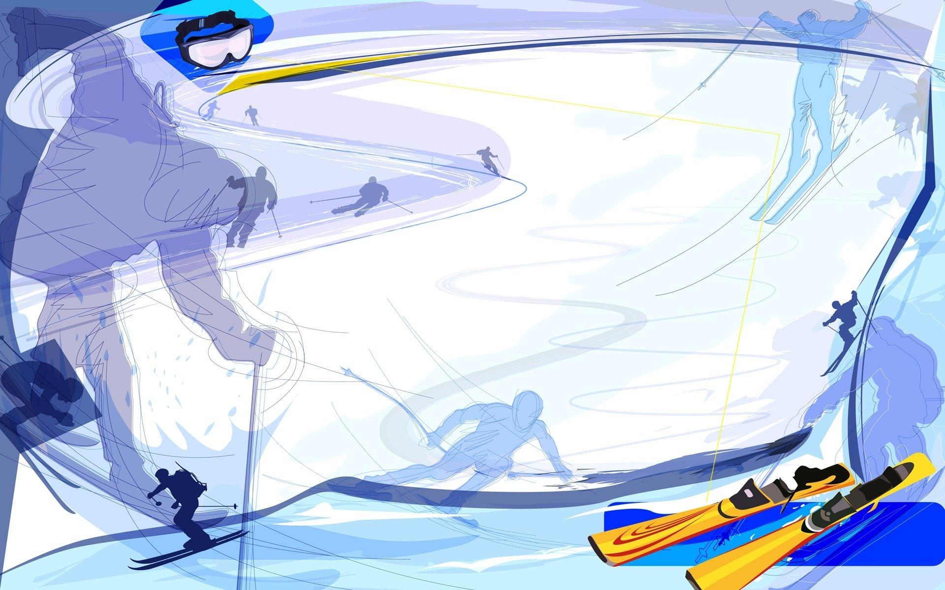 Обои Лыжи. Спорт foto 16