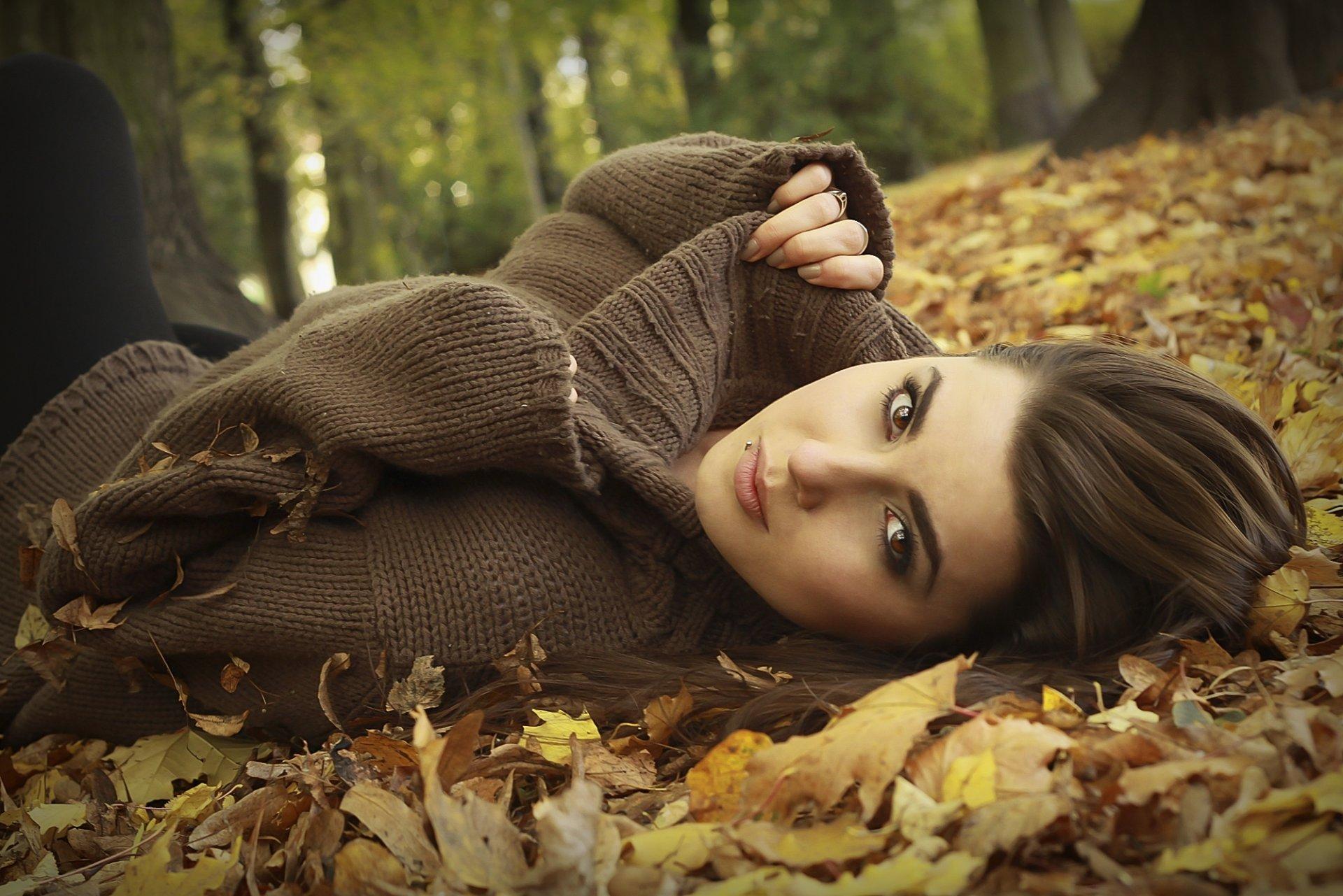 Фотосессия осень девушки фото