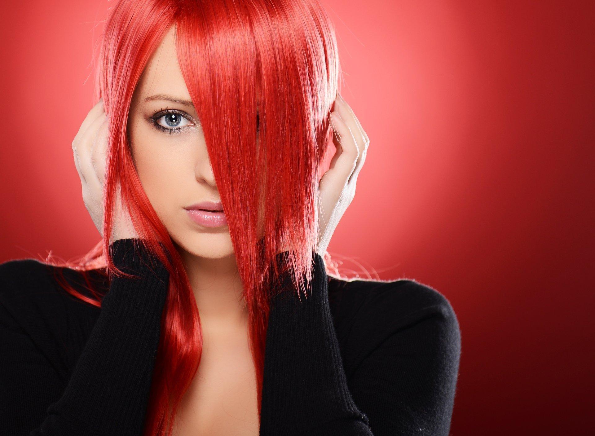 Красные волосы у девушек фото