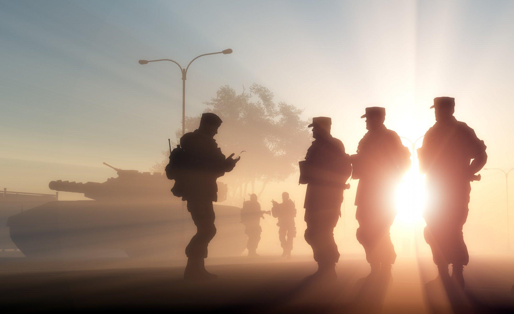 Военные солдаты силуэты загрузить