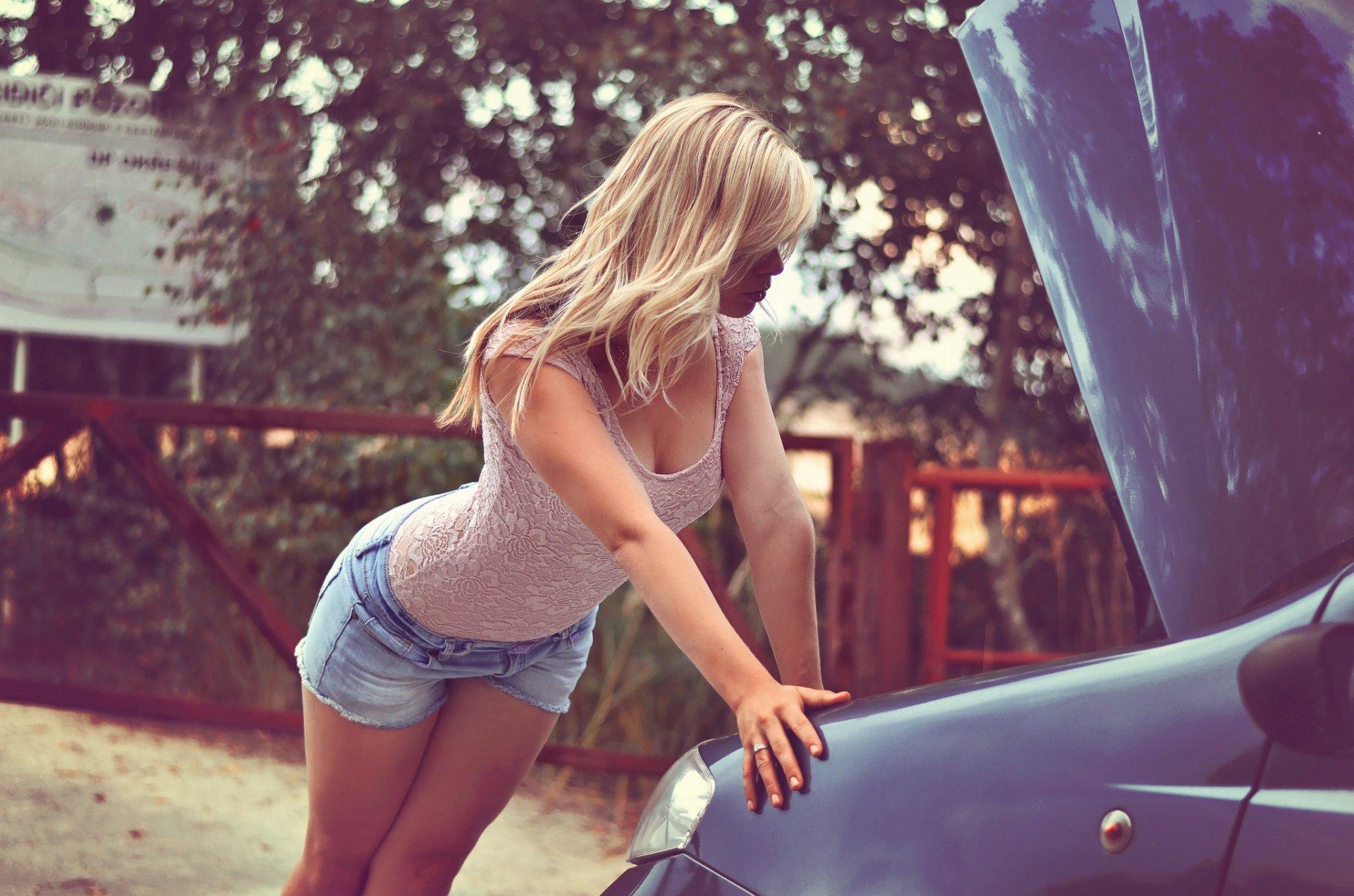 Blonde Jean Shorts