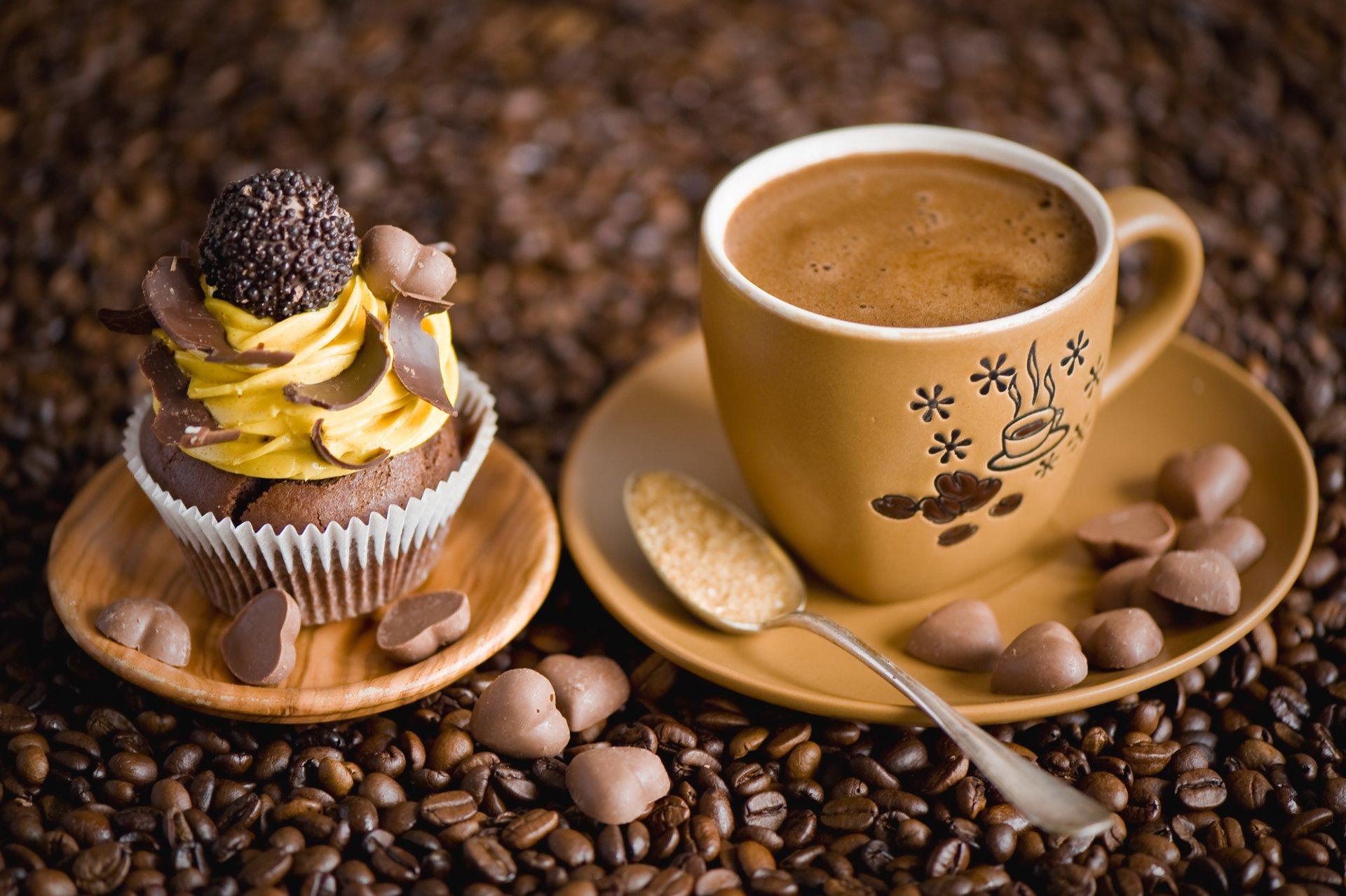 Кофе с пирожными открытки 72