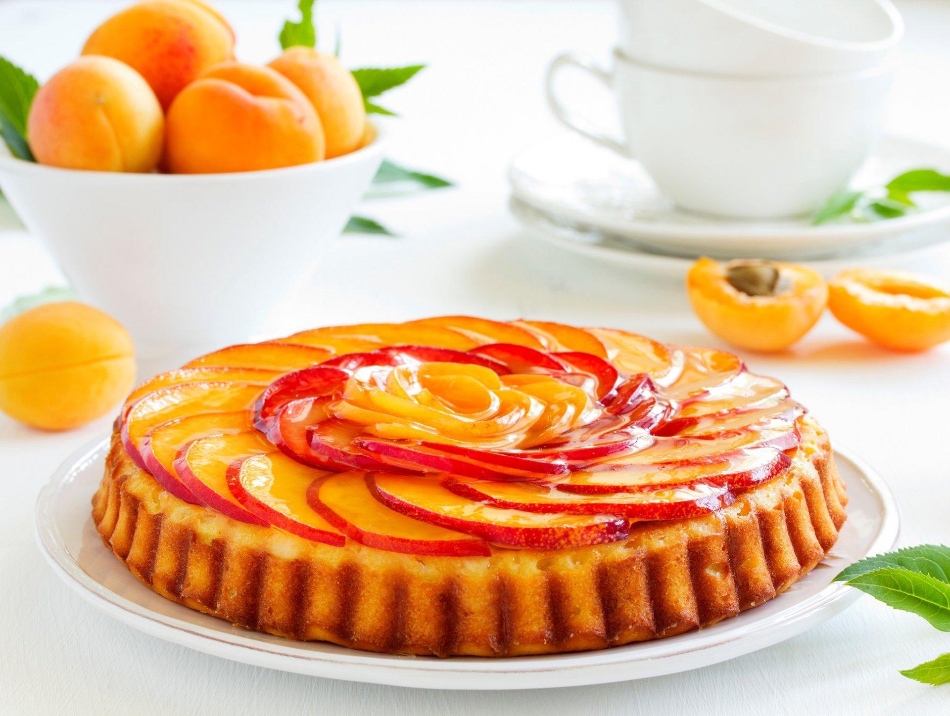 Обои пирог, выпечка, абрикосы. Еда foto 8