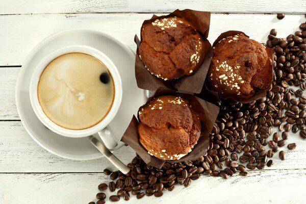 coffee cup breakfast cupcake beans кофе кексы